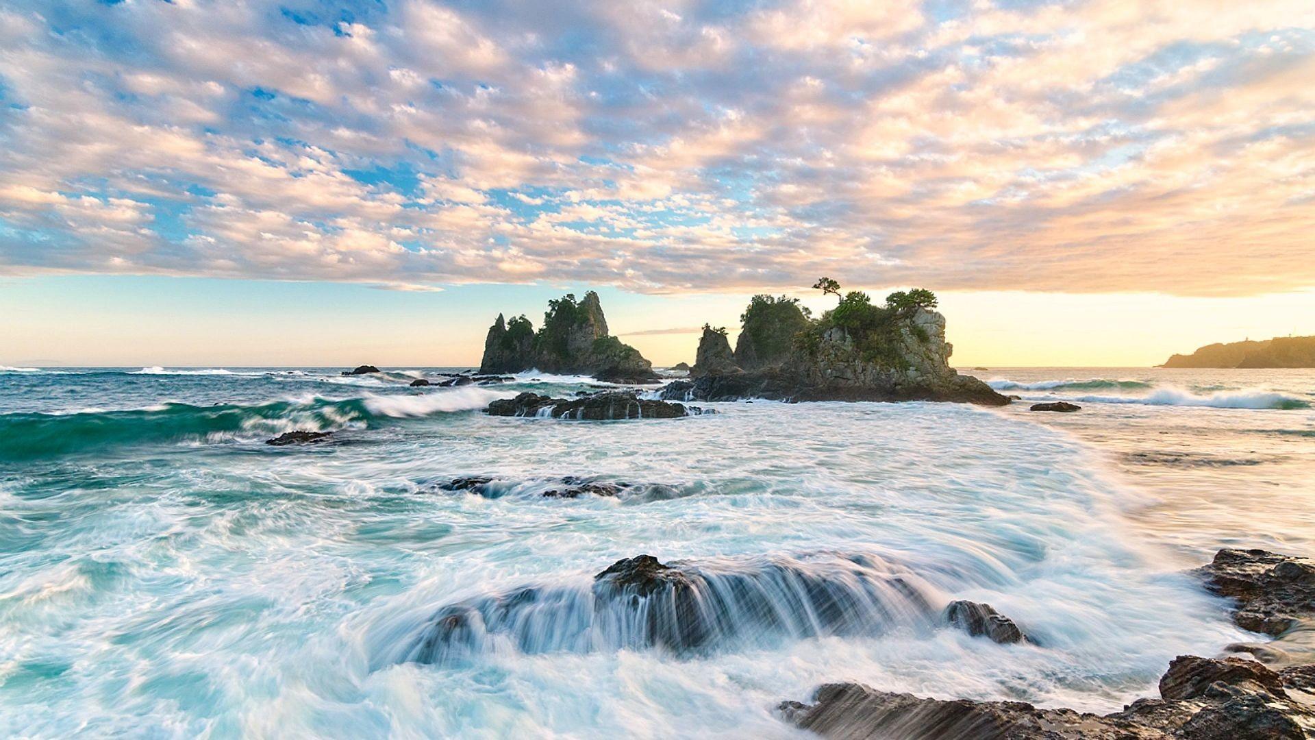 Sunrise On The Japanese Coast Beach Nature Hd Wallpaper   HD Beach Wallpaper  Free Download …