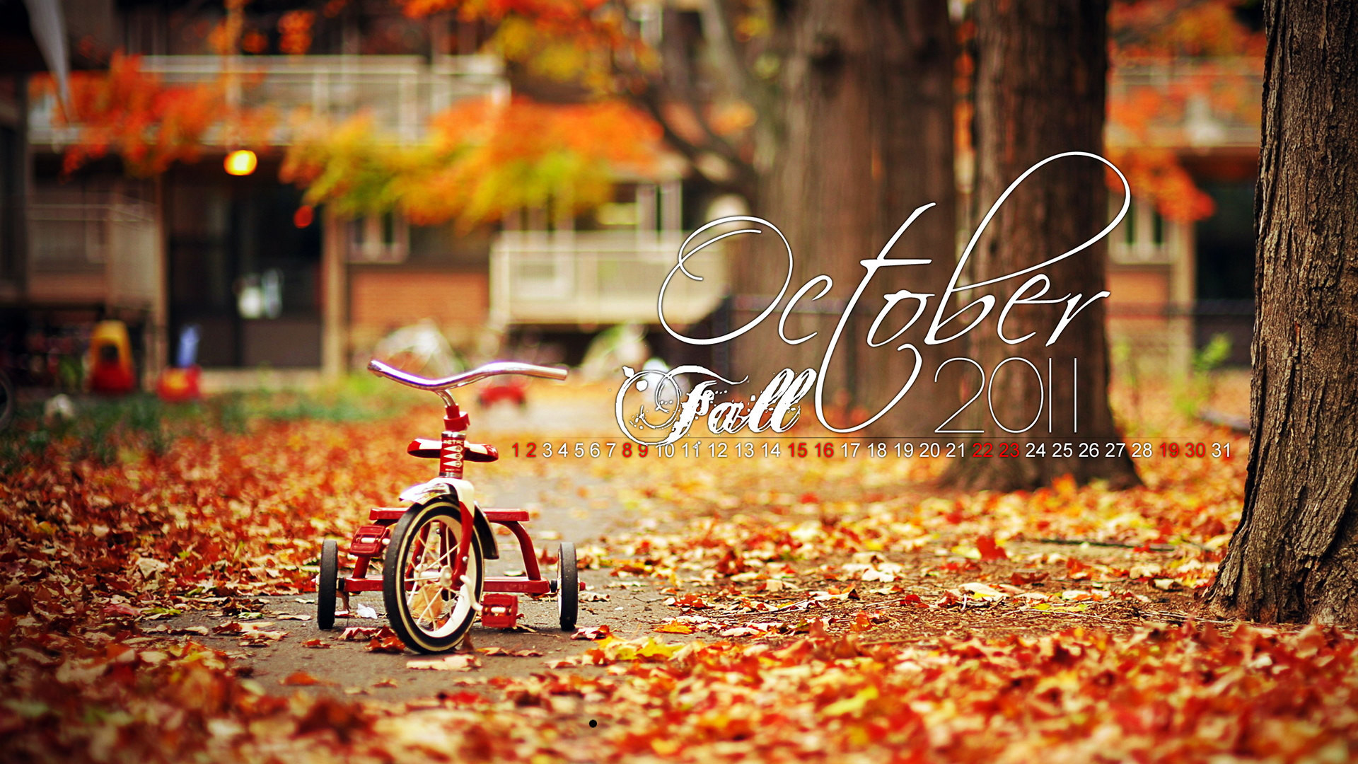… Fall October Calendar HD Wallpaper Resolution: 1920 x 1200 [1920 x 1080]