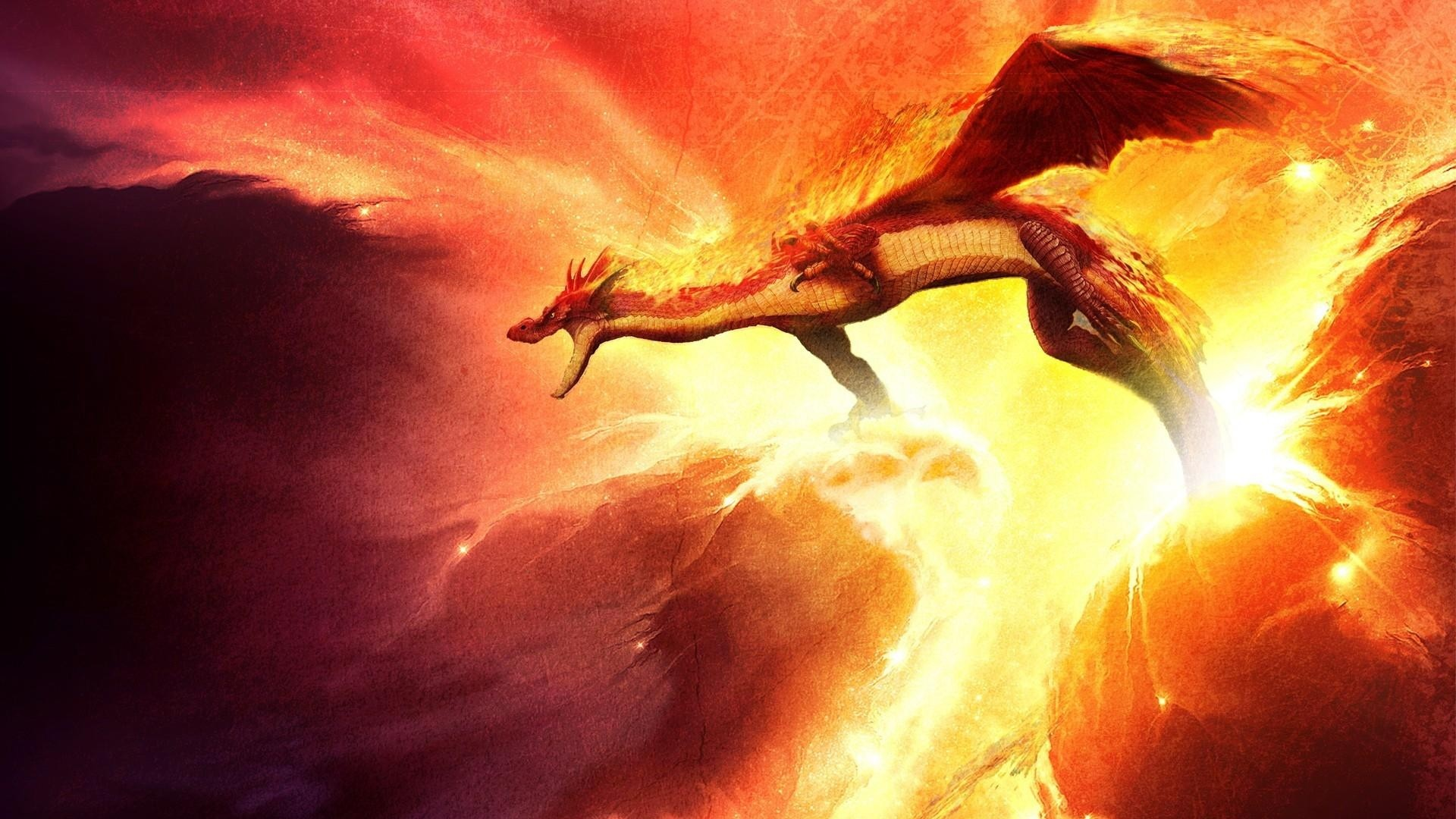 … Background Full HD 1080p. Wallpaper dragon, fire, sparkles,  mouth