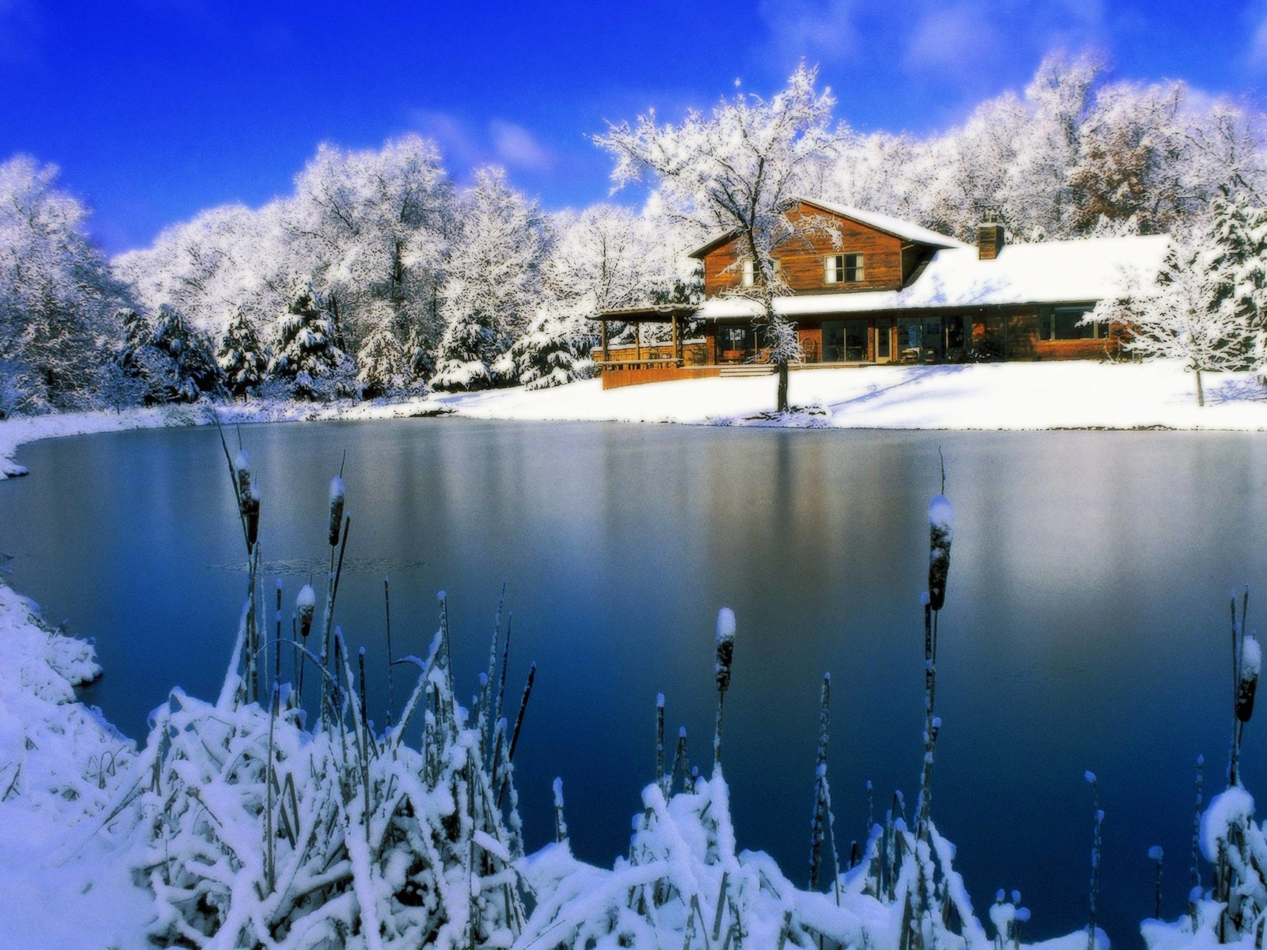 free desktop wallpaper winter scenes – www.