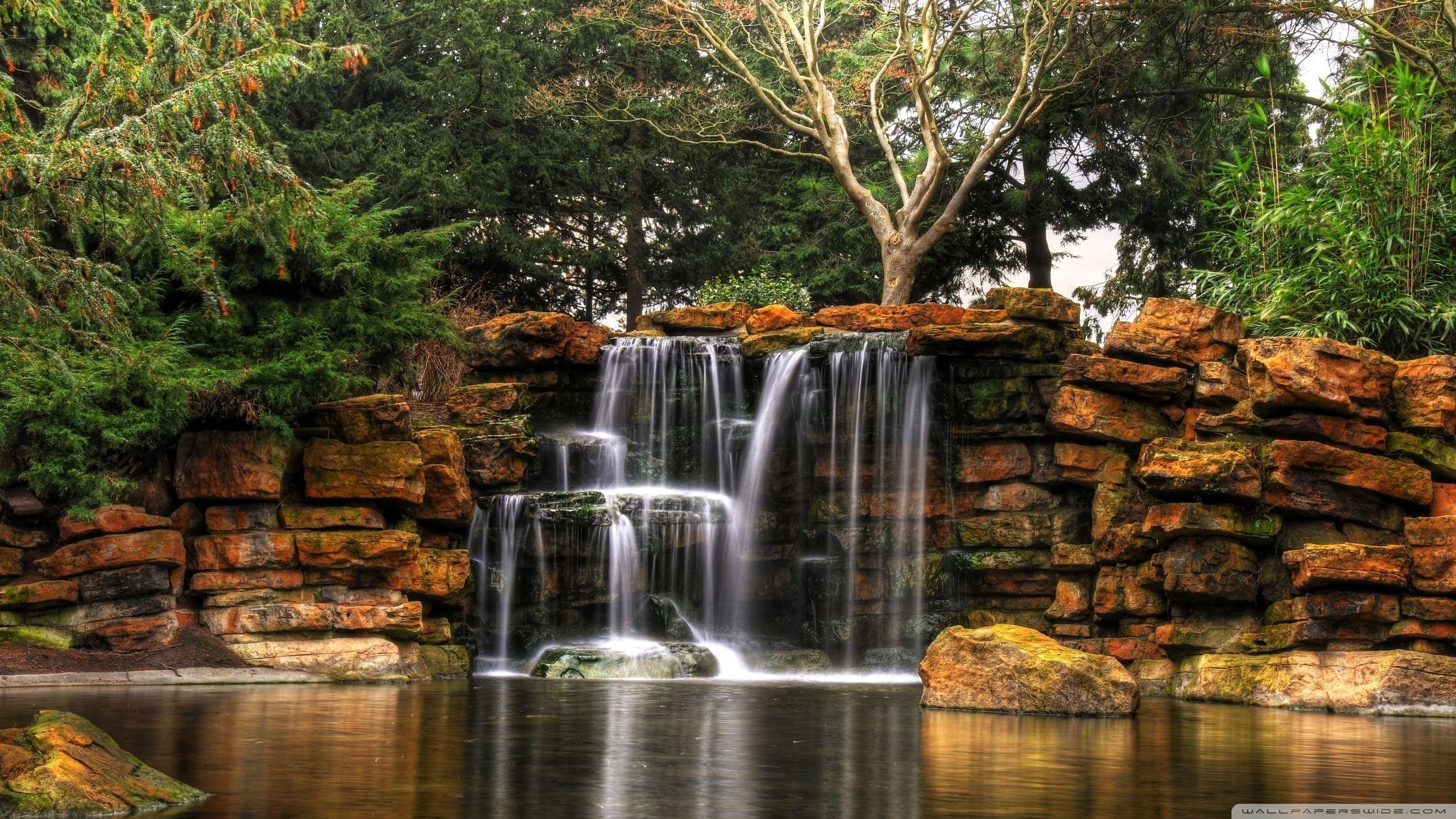 Beautiful Lake Waterfalls Nature Photography 8568 Wallpaper