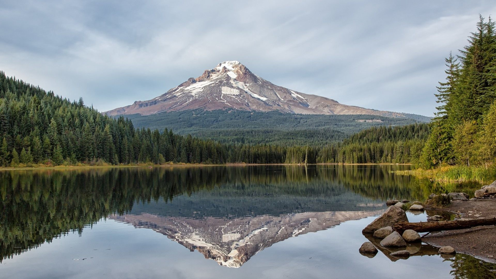 Mountain Tag – Lake Mountain Reflection Forest Volcano Download Hd Wallpaper  Of Nature For Pc for