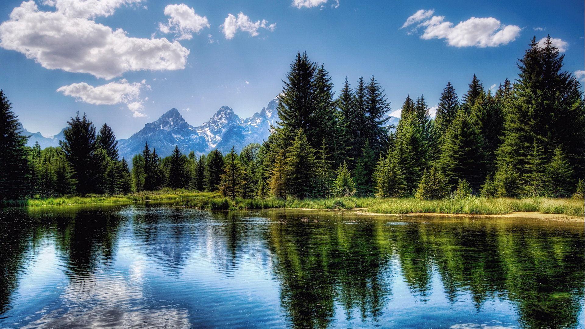 Hd Mountain Scene HD Desktop Wallpaper, Background Image
