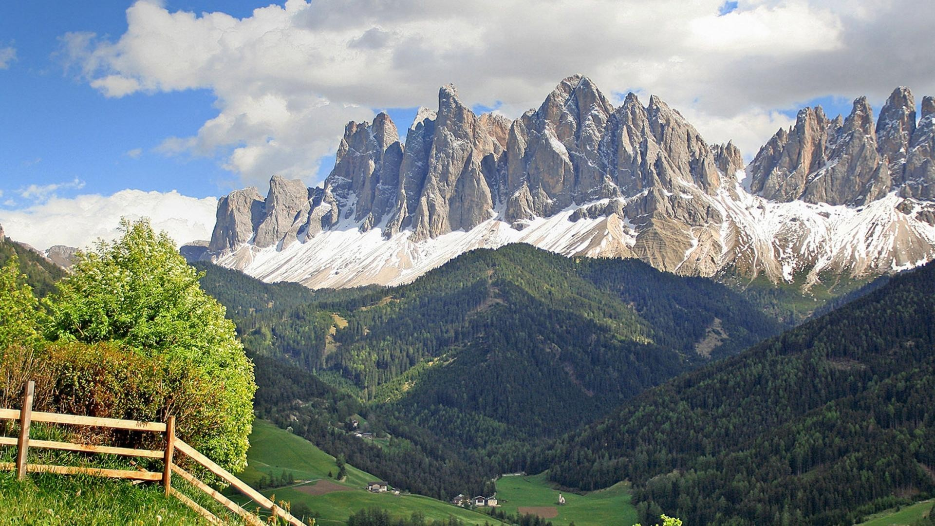 Italian Tag – Dolomites Landscape Alps Italian Village Europe Mountain  Magnificent Valley Travel Forest Range Italy