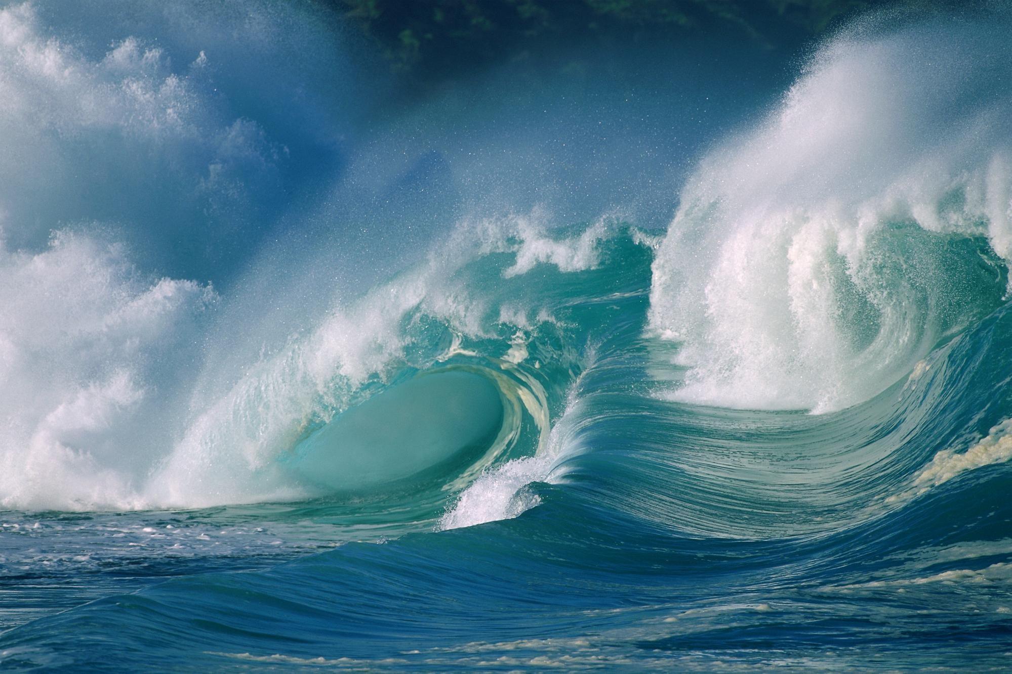 Free Ocean waves wallpaper HD.