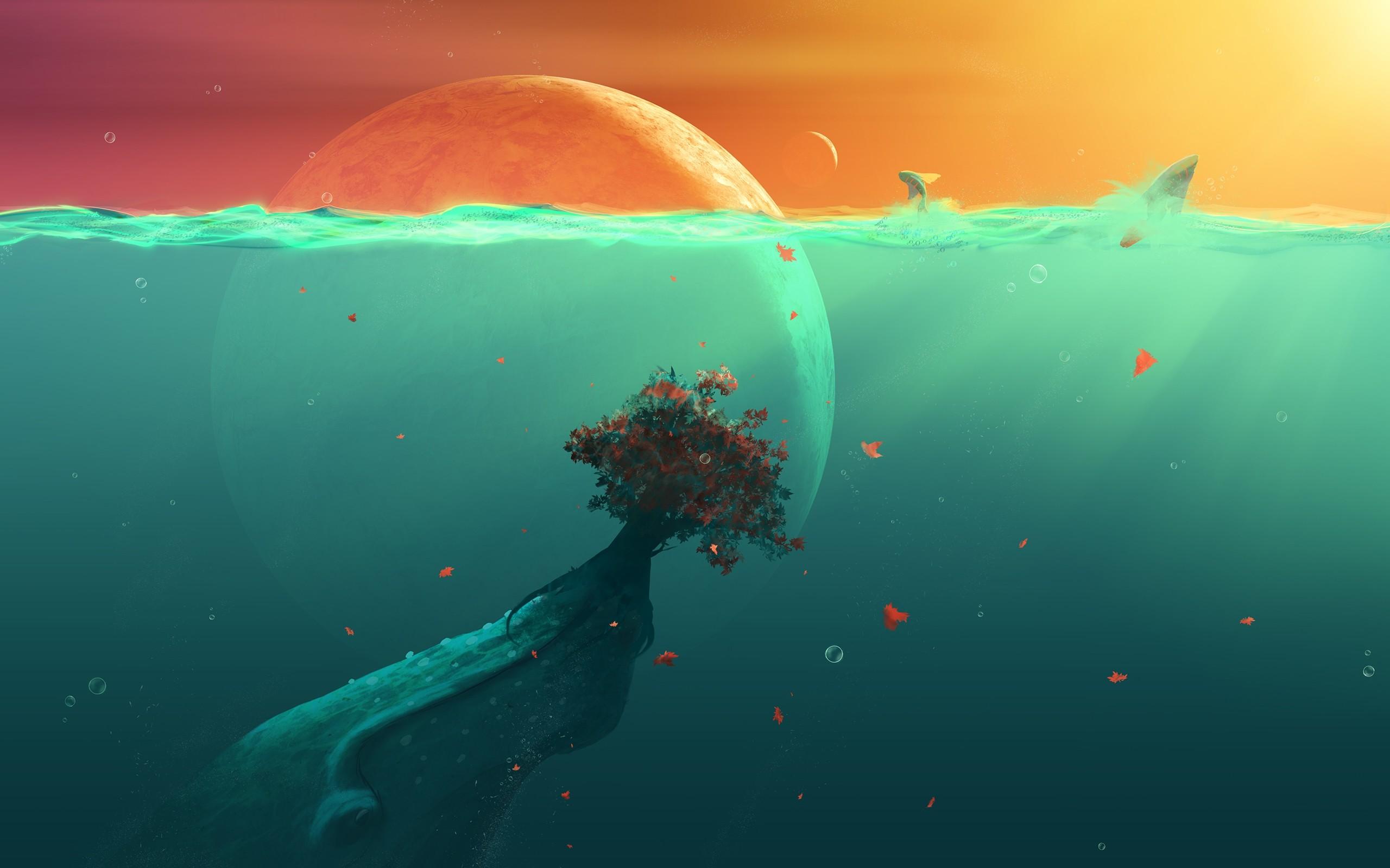Deep Ocean Desktop Wallpaper.