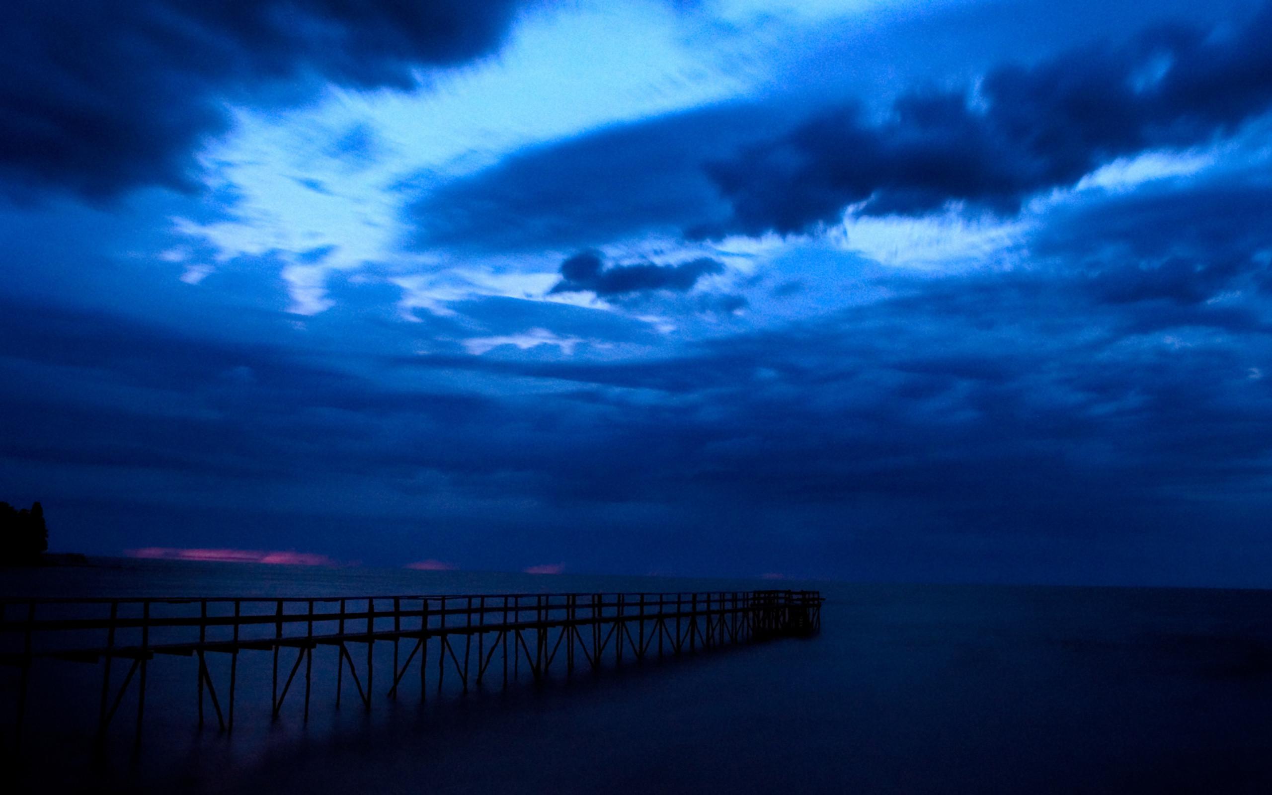 Nature Wallpaper: Dark Blue Sky Wallpapers Photo for HD Wallpaper Desktop