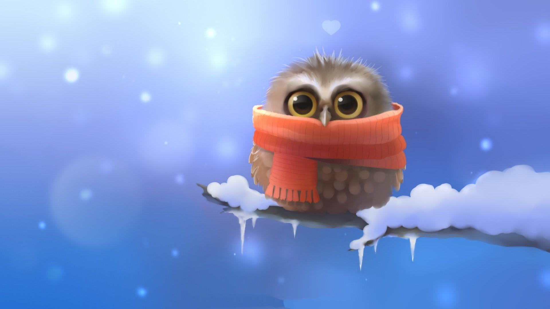 Cute Winter Owl HQ.