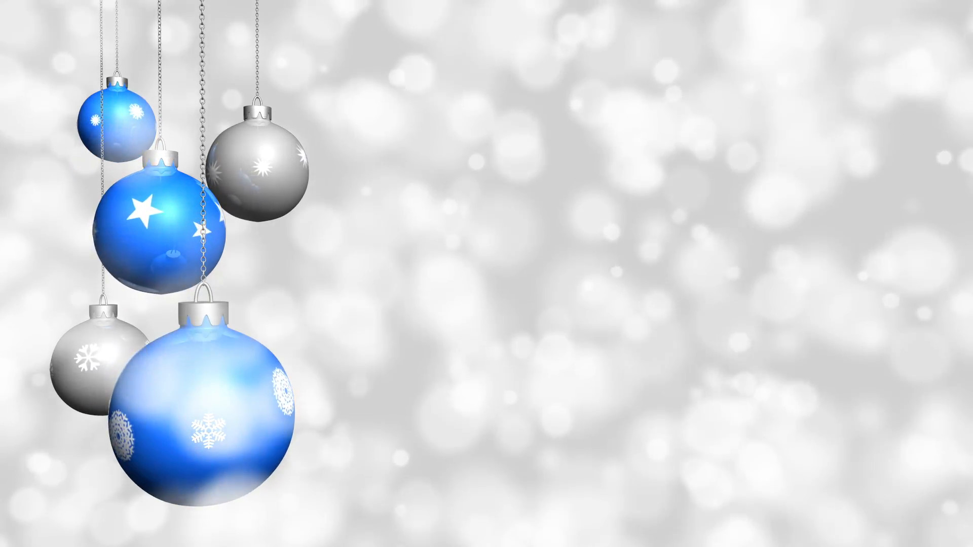 Christmas ornaments with snow background – Looping Motion Background –  VideoBlocks