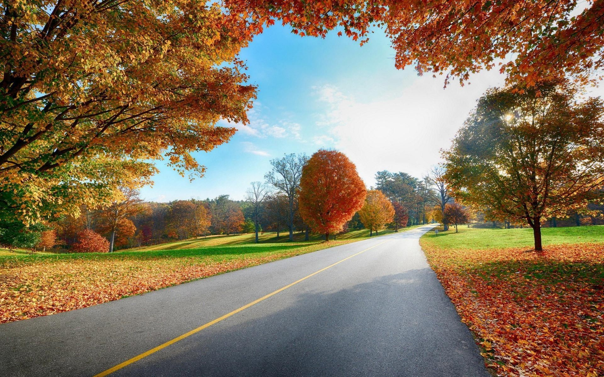 Country Road Autumn Desktop Wallpapers – New HD Wallpapers