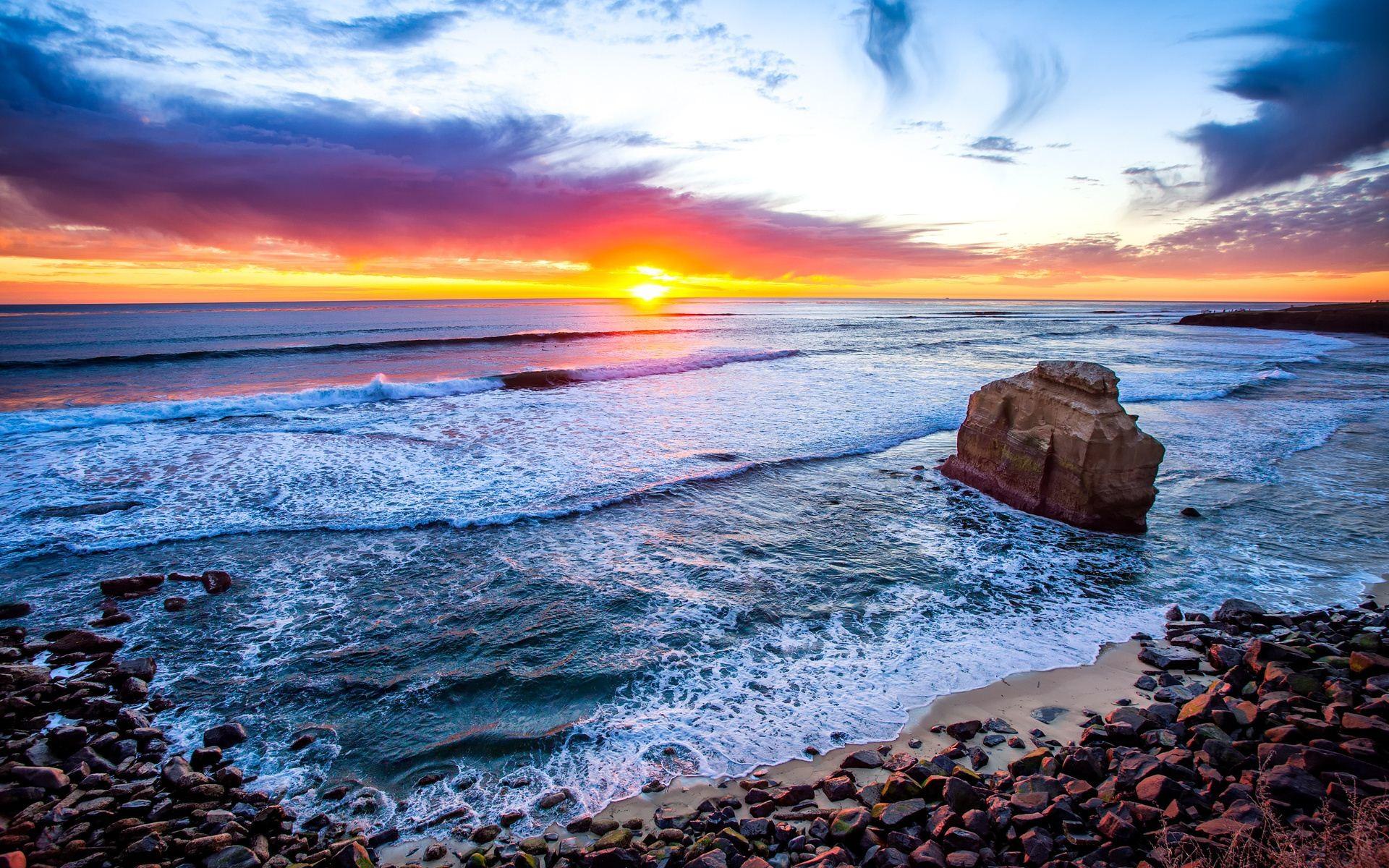 San Diego Beach Sunset HD Wallpapers