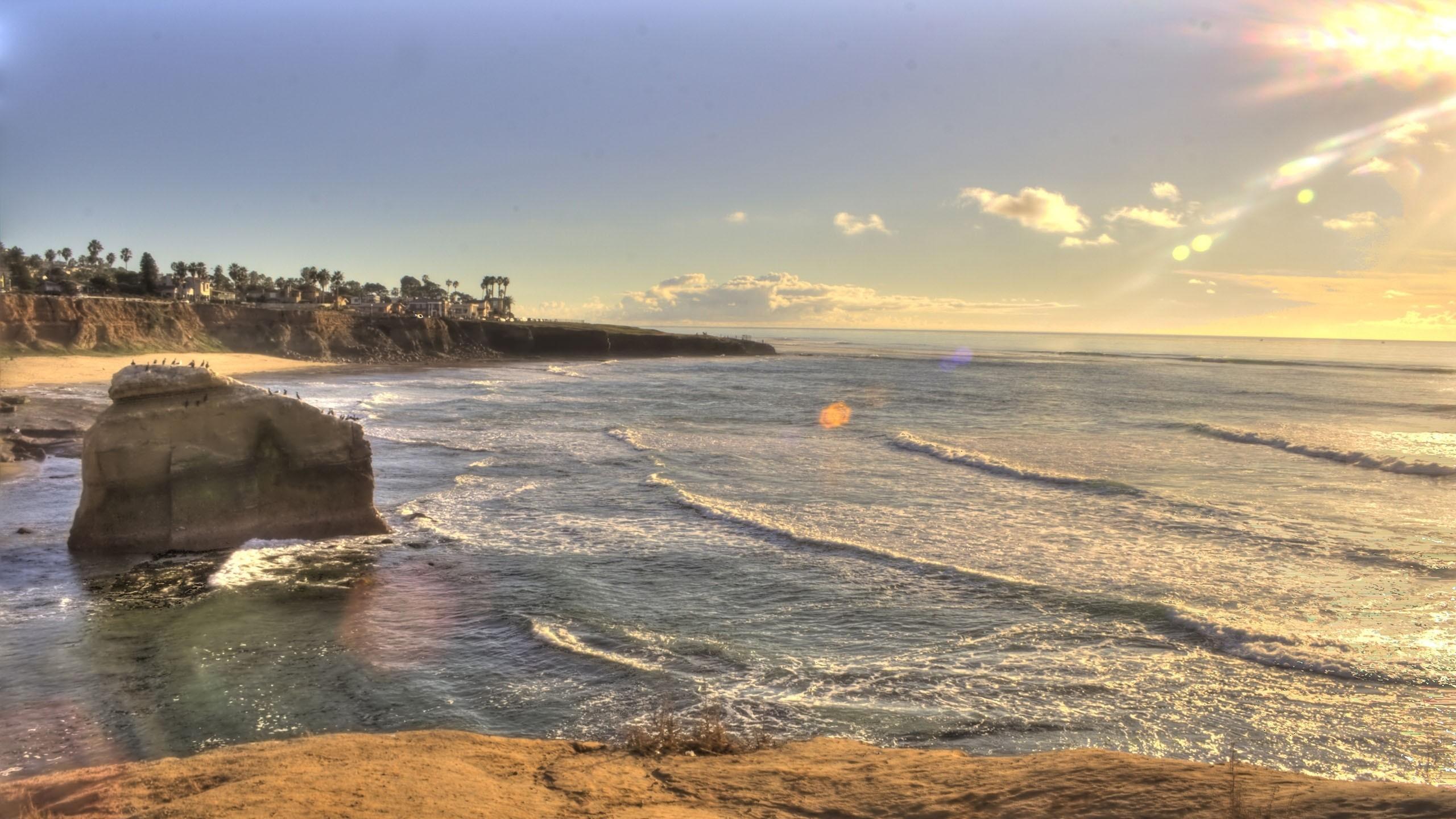 Wallpaper sunset, beach, san diego, california, usa