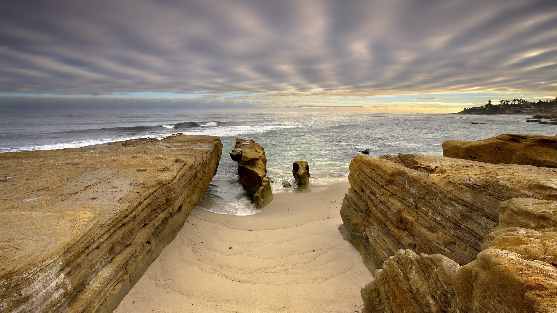 nature, Landscape, Water, Rock, San Diego, California, USA, Sea, Waves,  Coast, Beach, Sand, Clouds, Palm Trees, Sunlight, Long Exposure Wallpapers  HD …