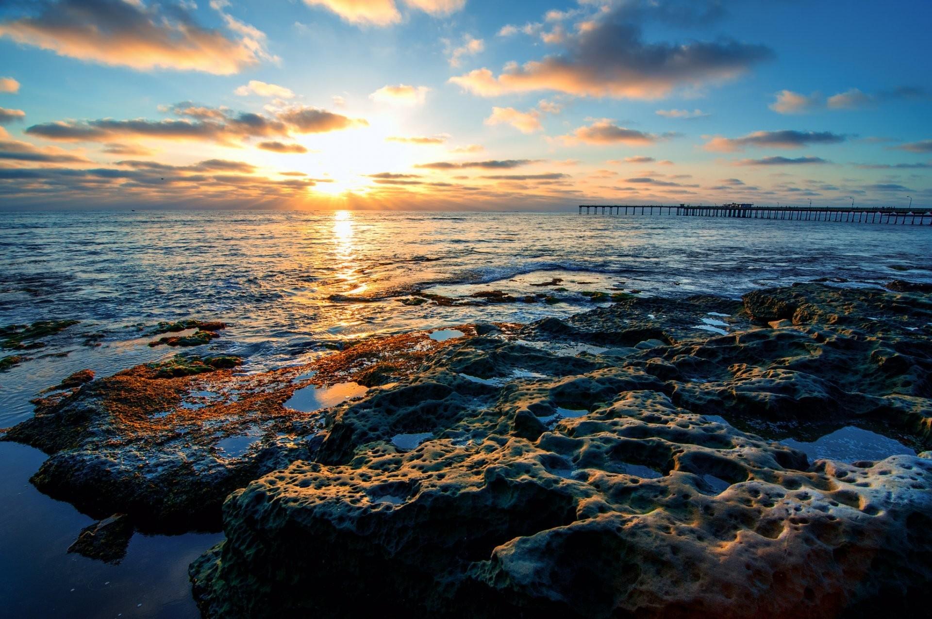 nature ocean beach shoreline san diego ca usa san diego california united  states waterfront sky sun