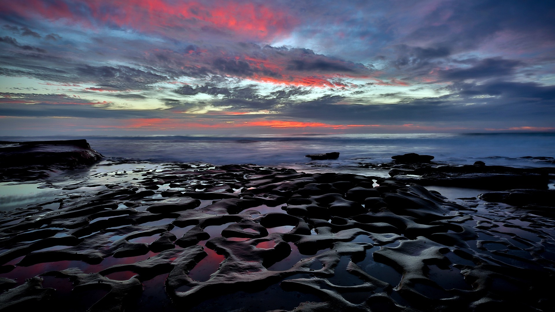 Diego Tag – La Jolla Beach California Twilight Pools Clouds Sea Rocks  Thelastglow San Diego HD