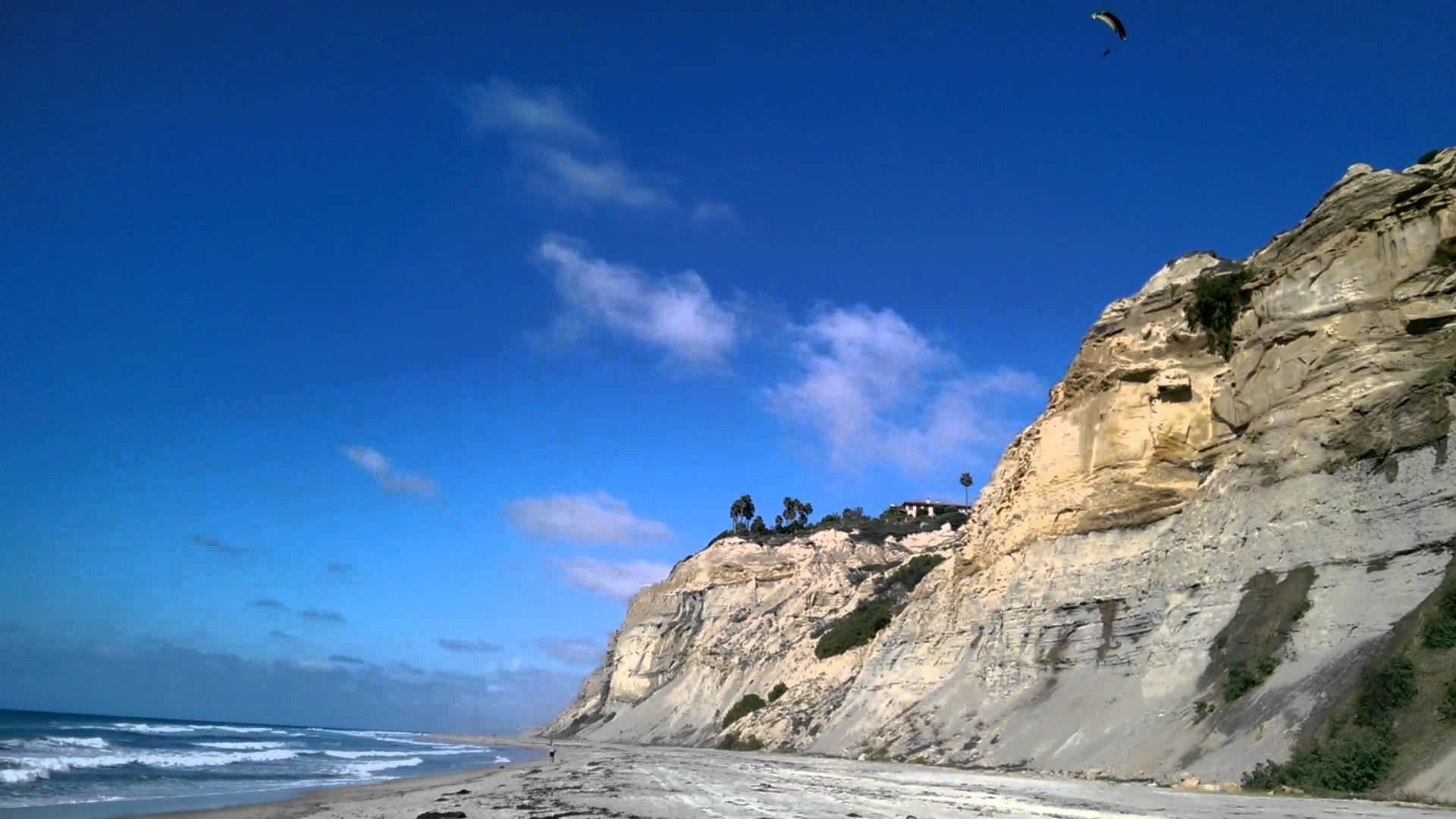 Paragliders on Black's Beach, San Diego, CA