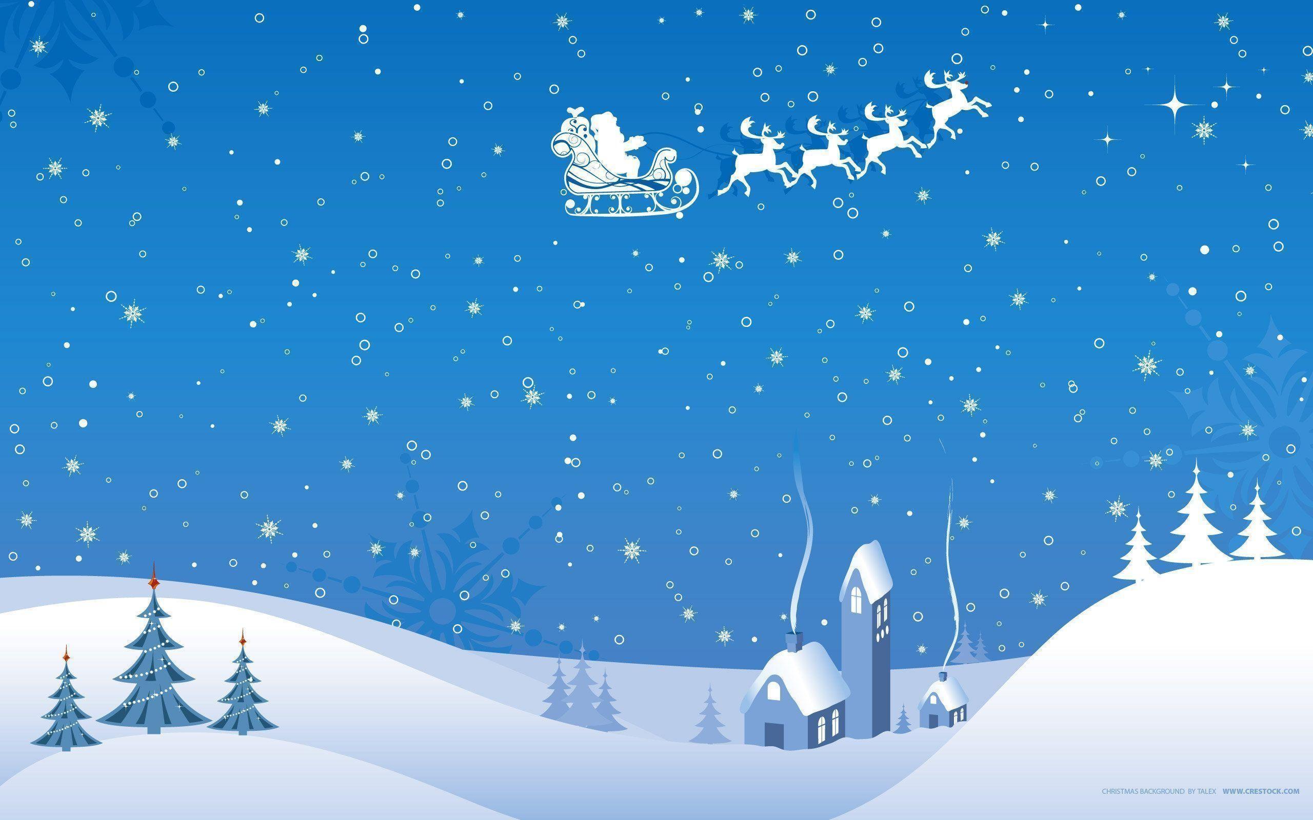 Christmas snow scene wallpaper | | 1208 | WallpaperUP