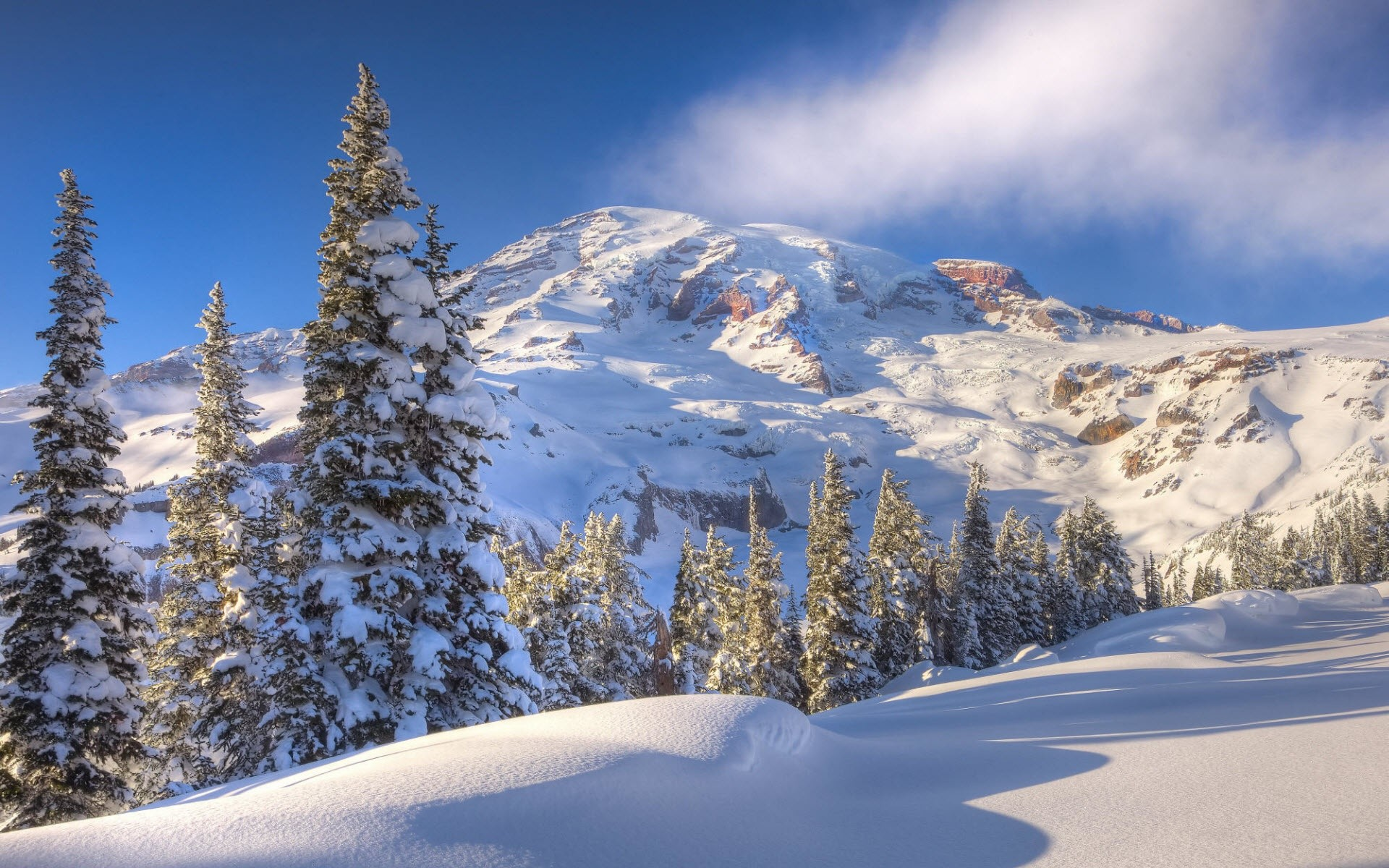 Snowy Winter Mountain Picture wallpapers (75 Wallpapers) – HD Wallpapers