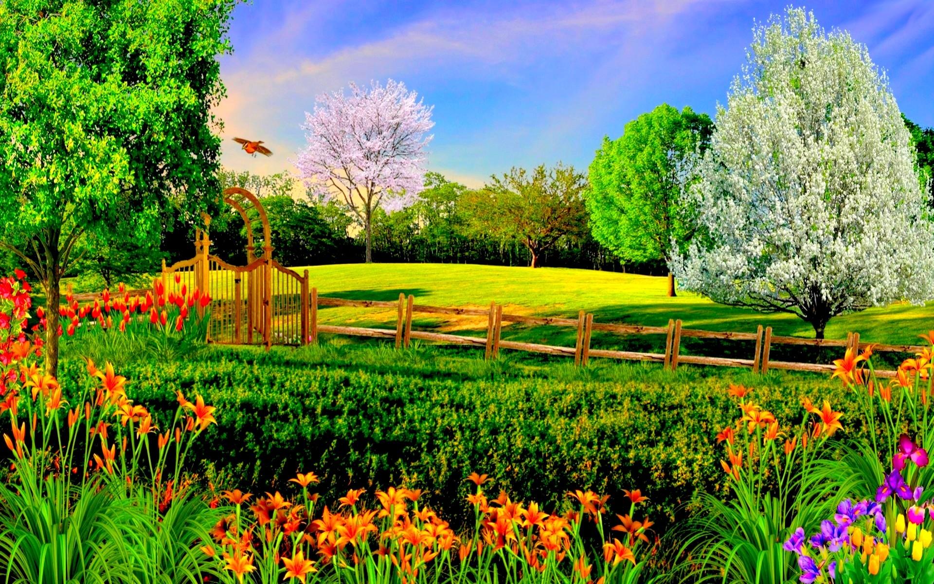Summer Nature Backgrounds Hd Desktop 10 HD Wallpapers | Hdwalli.com