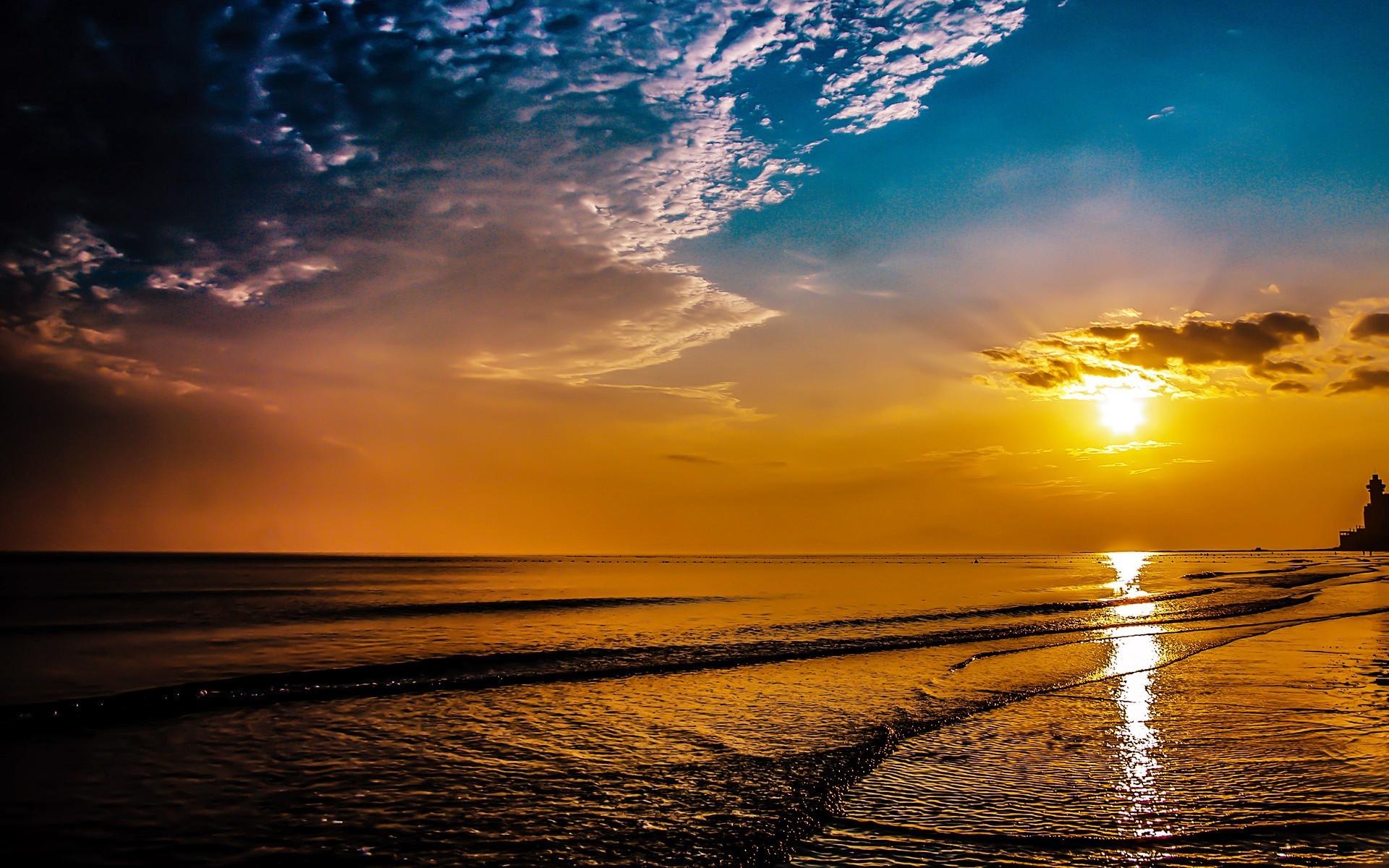 Beach Sunrise Nature Desktop