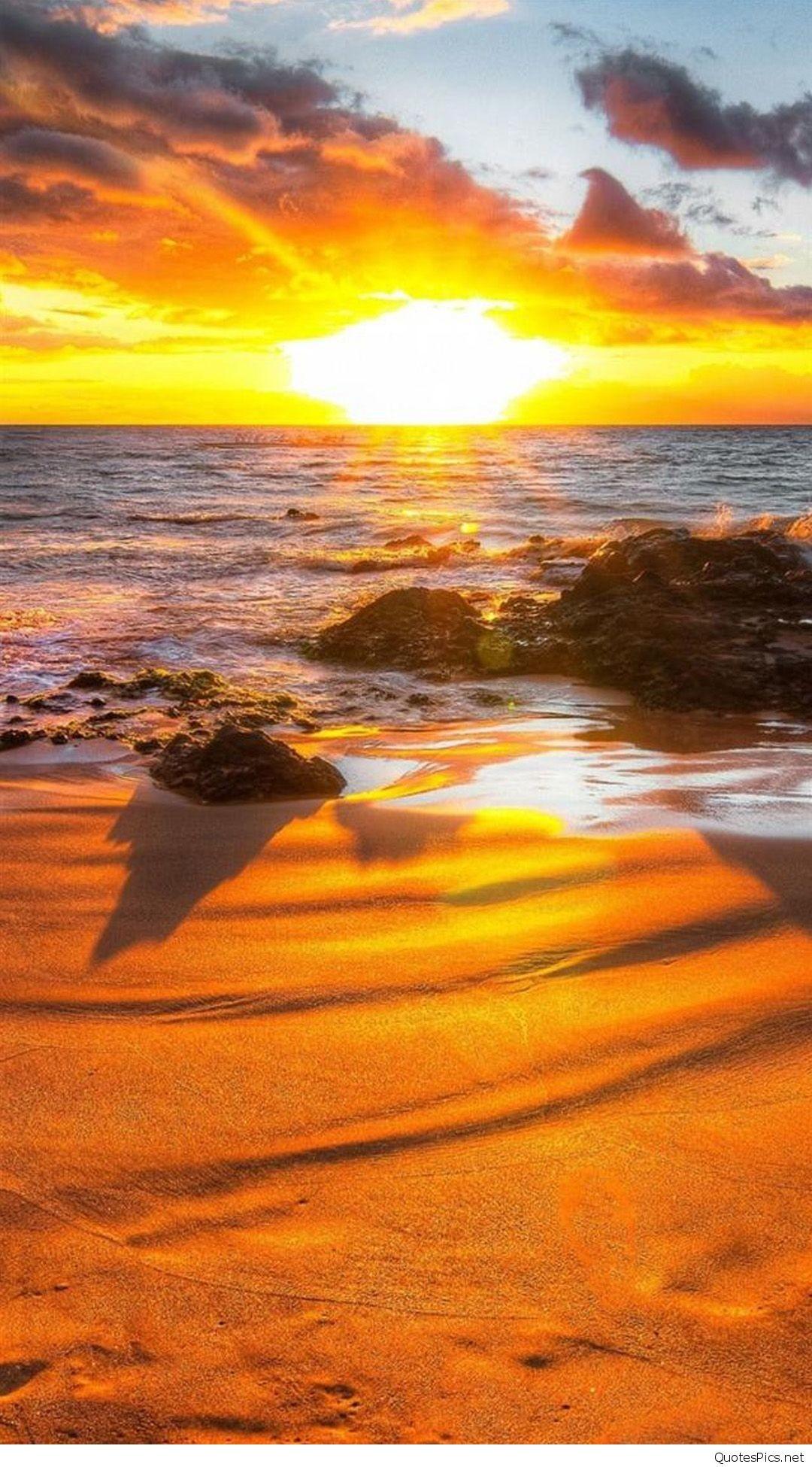 Sunset-HD-Beach-iPhone-Wallpapers
