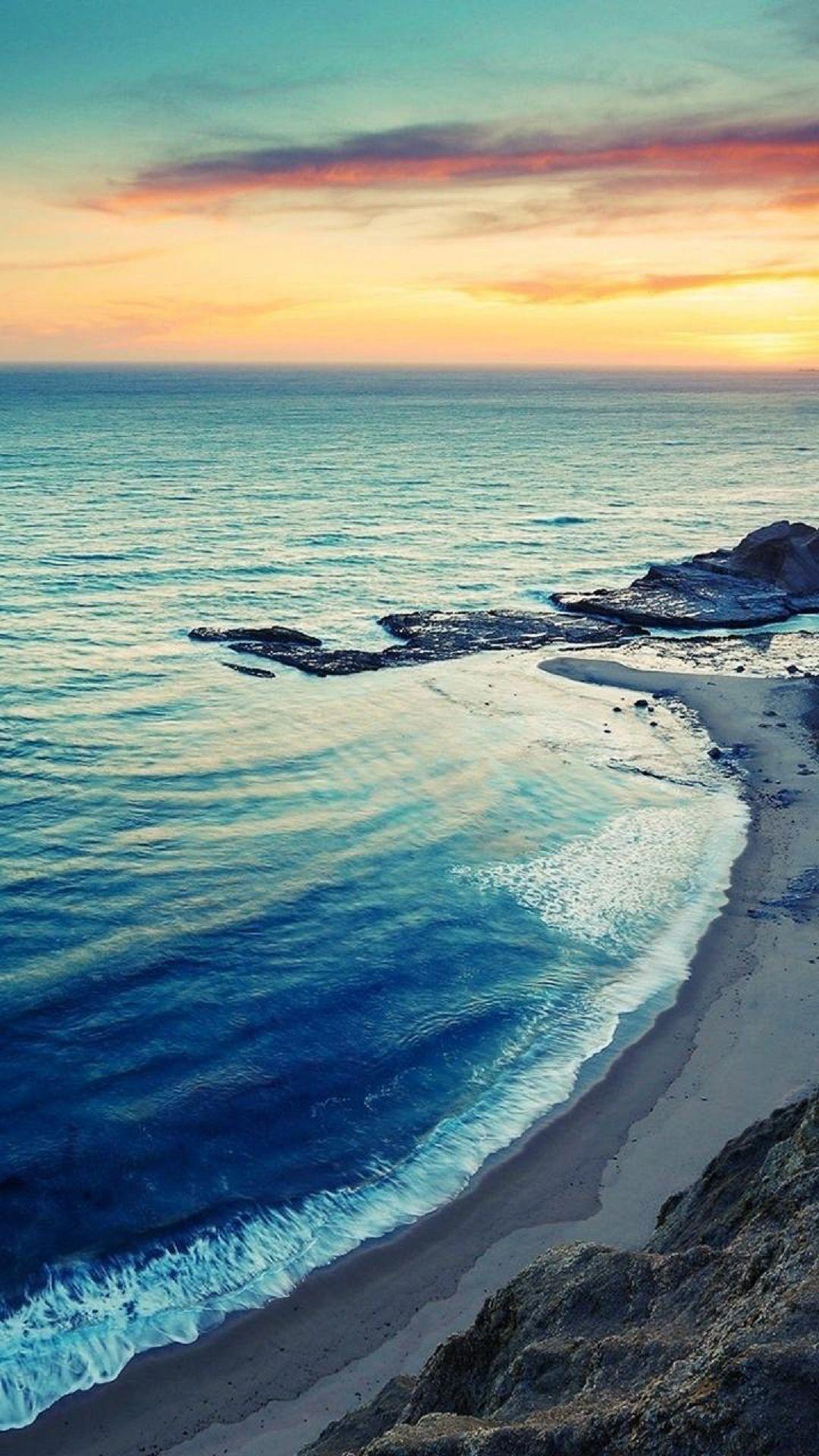 Sunrise Beach Seaside Coast iPhone 6 Plus HD Wallpaper …