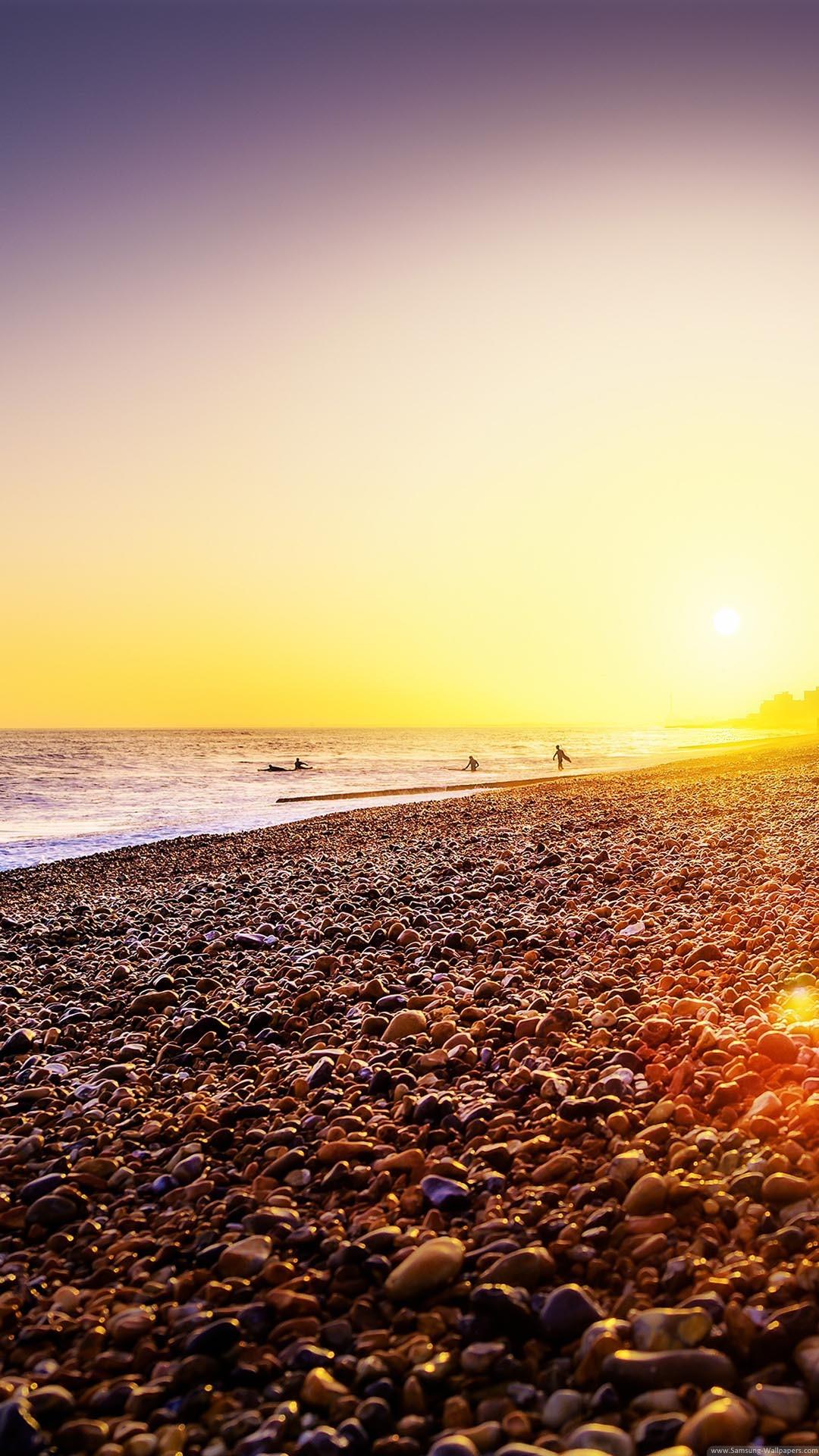 Brighton Beach Sunset iPhone 6 Plus HD Wallpaper …