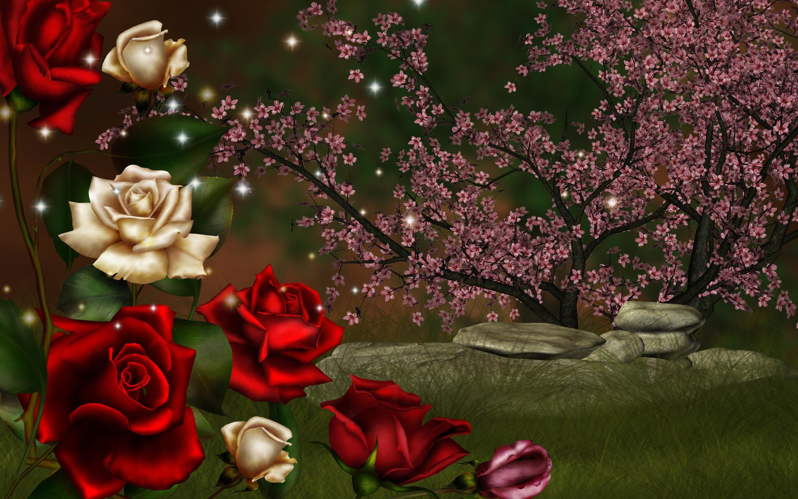 nice nature roses high definition 3d wallpaper
