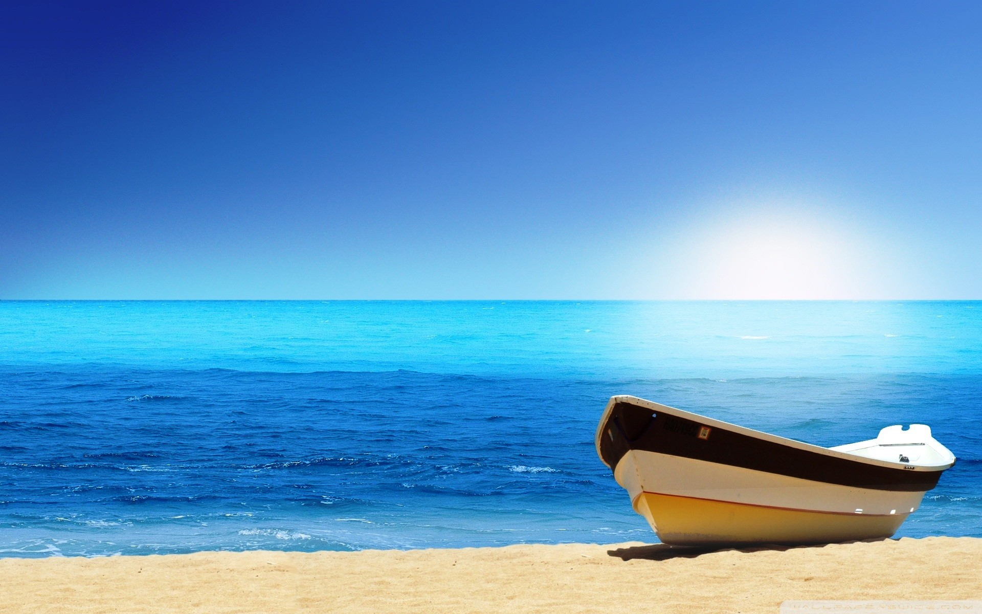 Beach And Boat Nice Nature Wallpapers Wst07 | WallChest