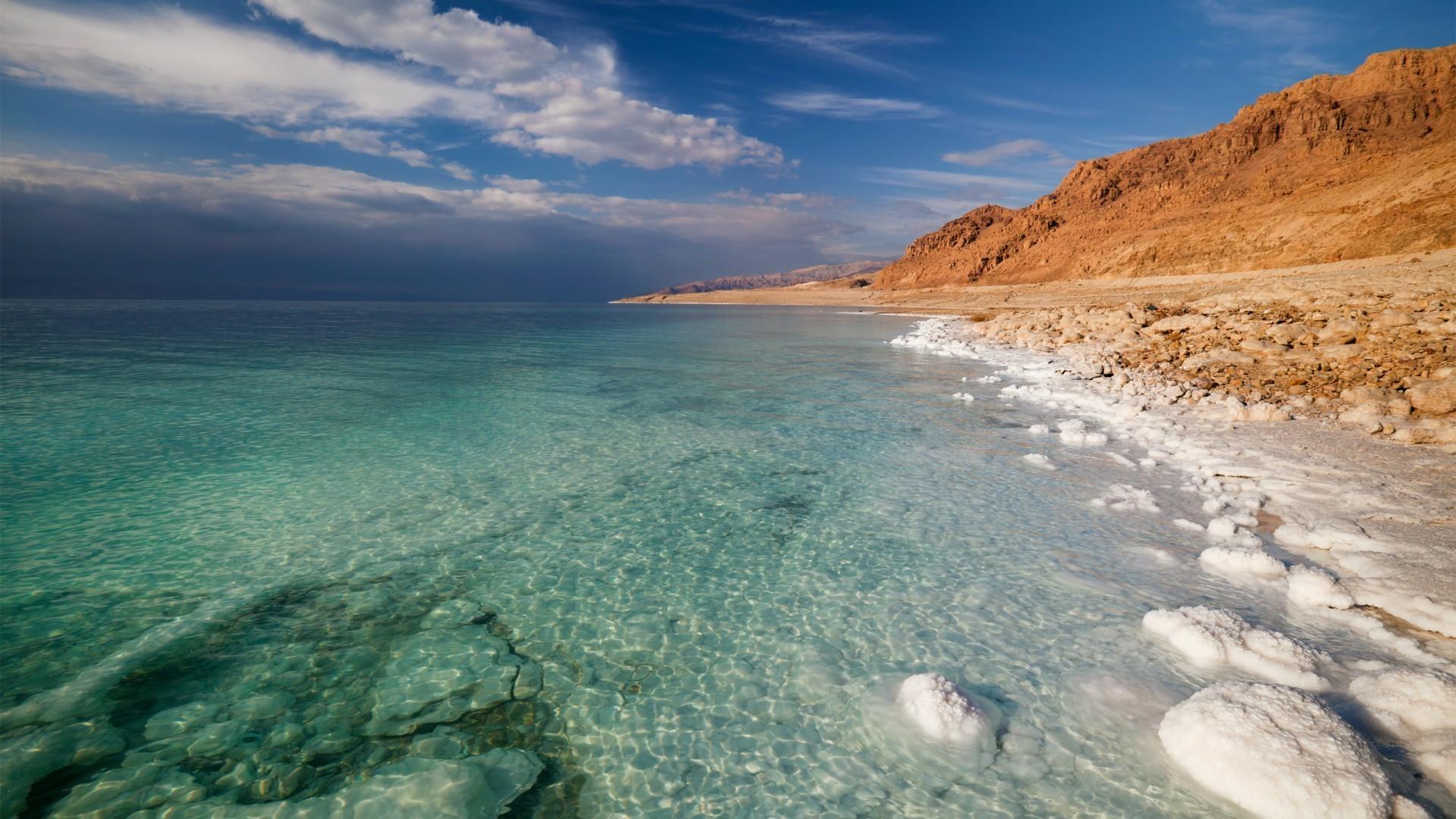 nature, Landscape, Mountains, Clouds, Dead Sea, Salt lakes, Stones, Israel  Wallpapers HD / Desktop and Mobile Backgrounds