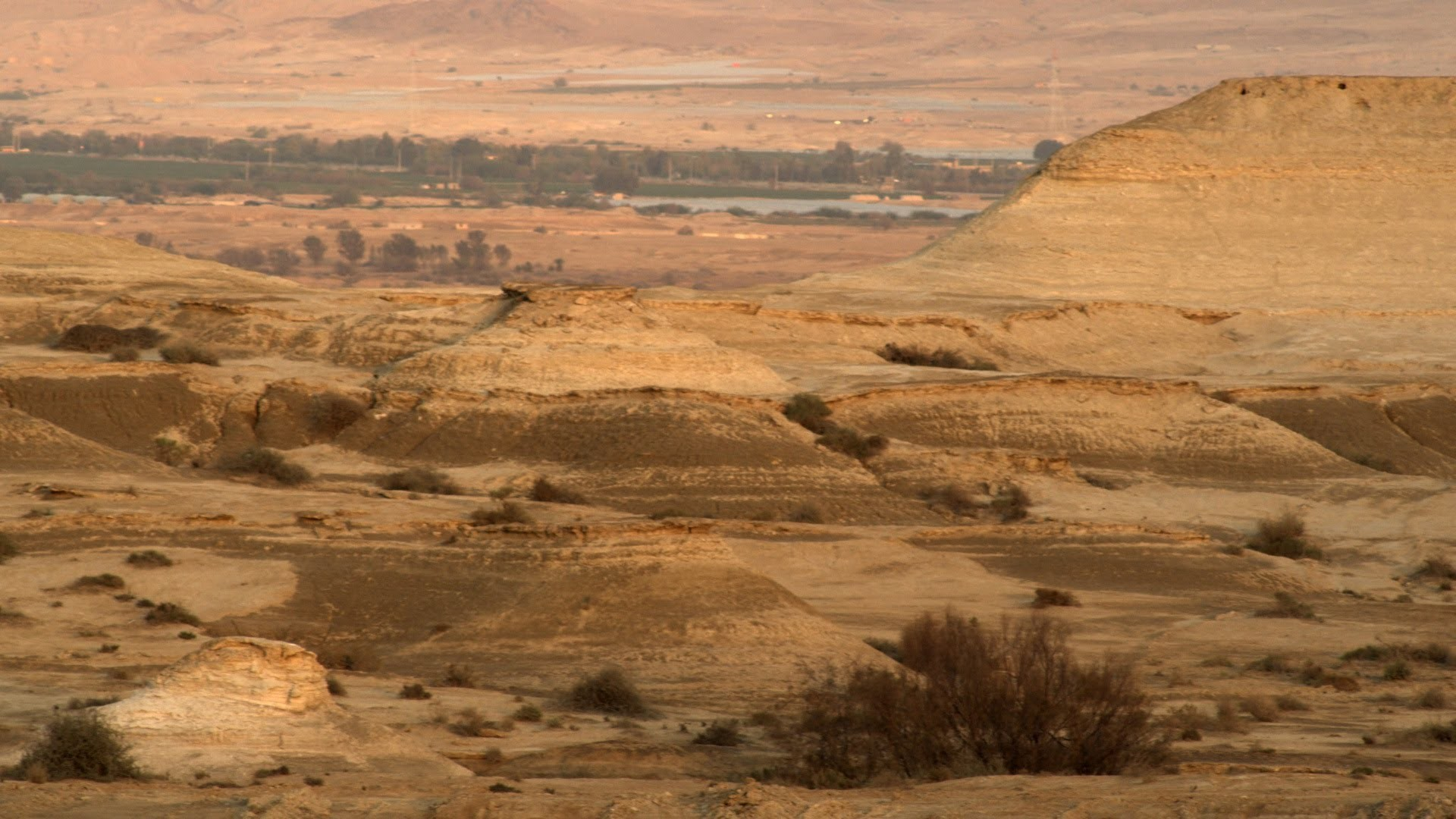 Royalty Free Stock Video Footage of a desert landscape at dusk shot in  Israel at 4k with Red.