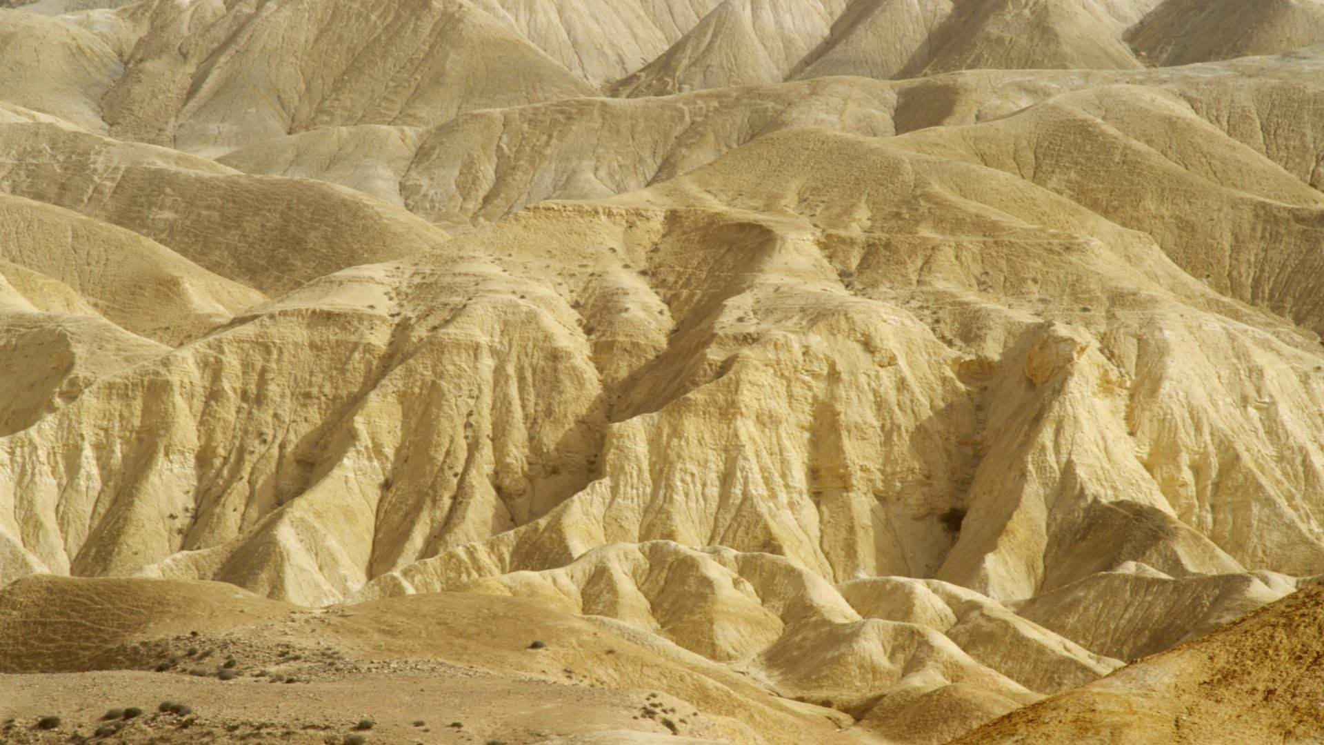 Stock Video Footage panorama of a mountainous desert landscape shot in  Israel at 4k with Red.