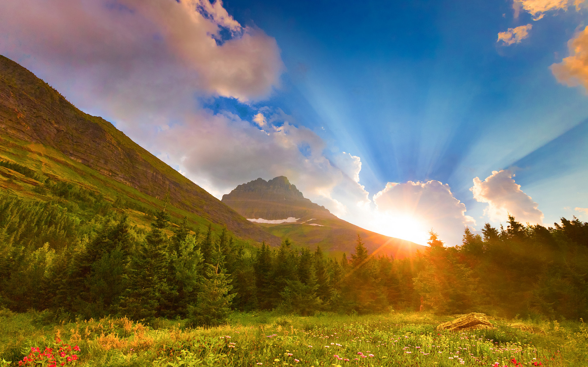 Sunrise Sunset Scenery | Sunrise mountain scenery Wallpapers Pictures  Photos Images