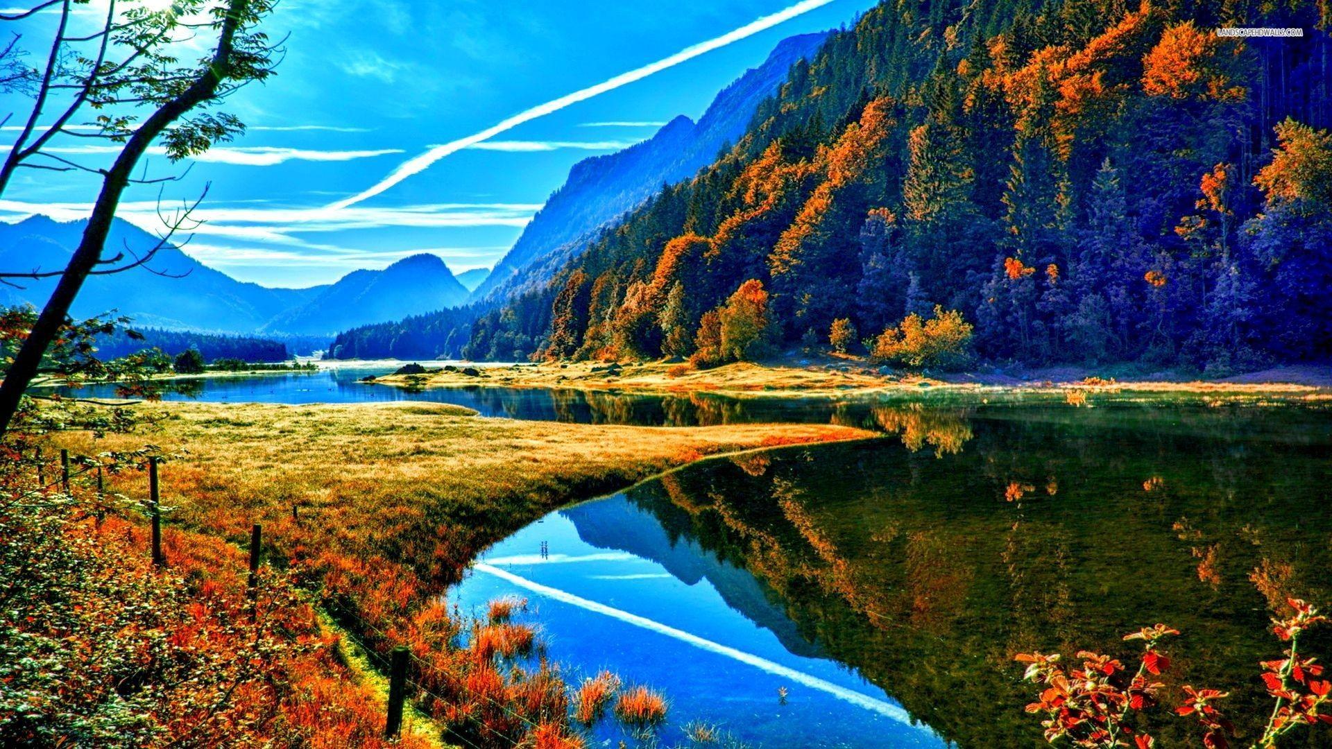 Autumn Mountain Wallpaper Desktop Background