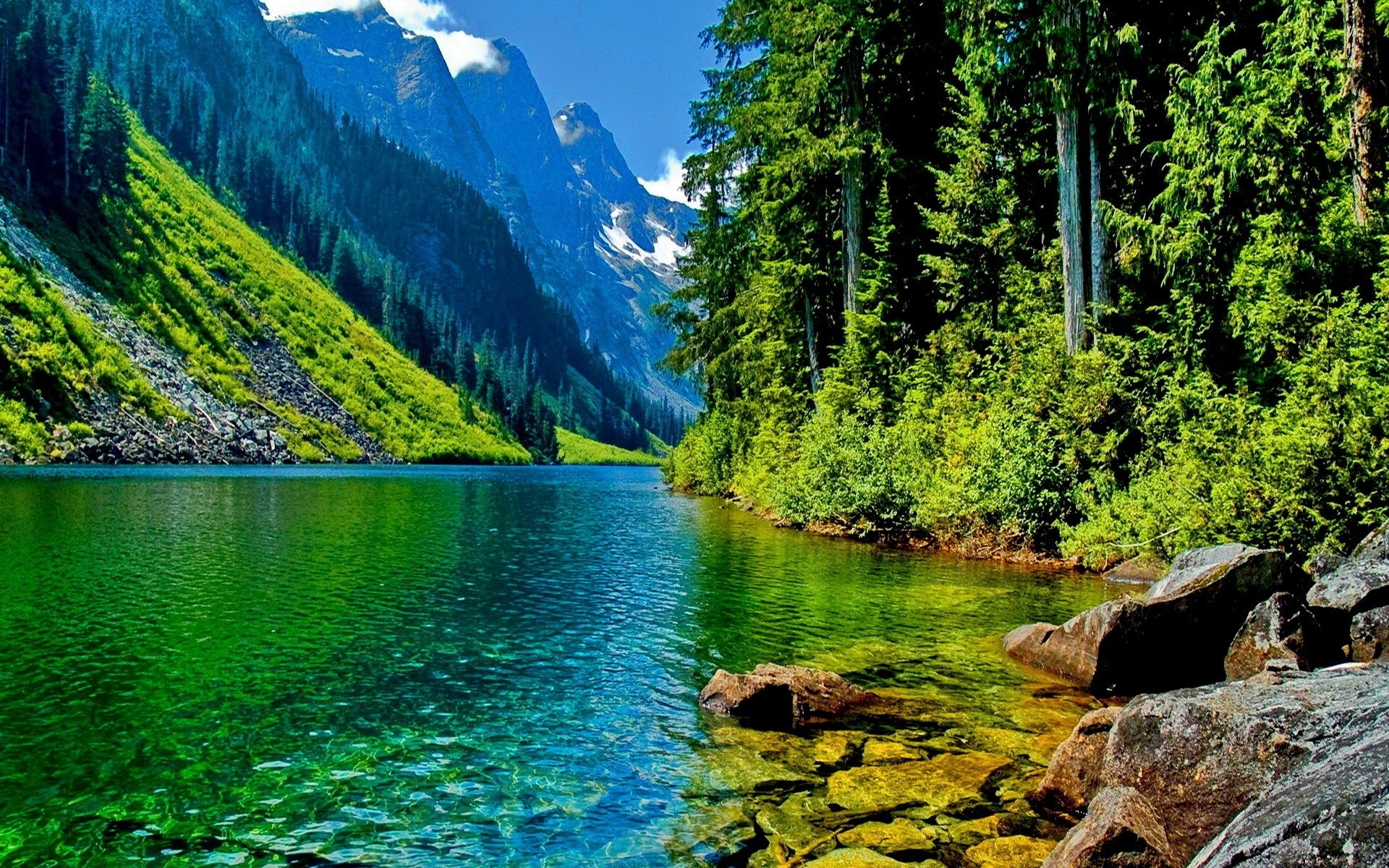 landscape mountain river HD Desktop Wallpaper | HD Desktop Wallpaper .