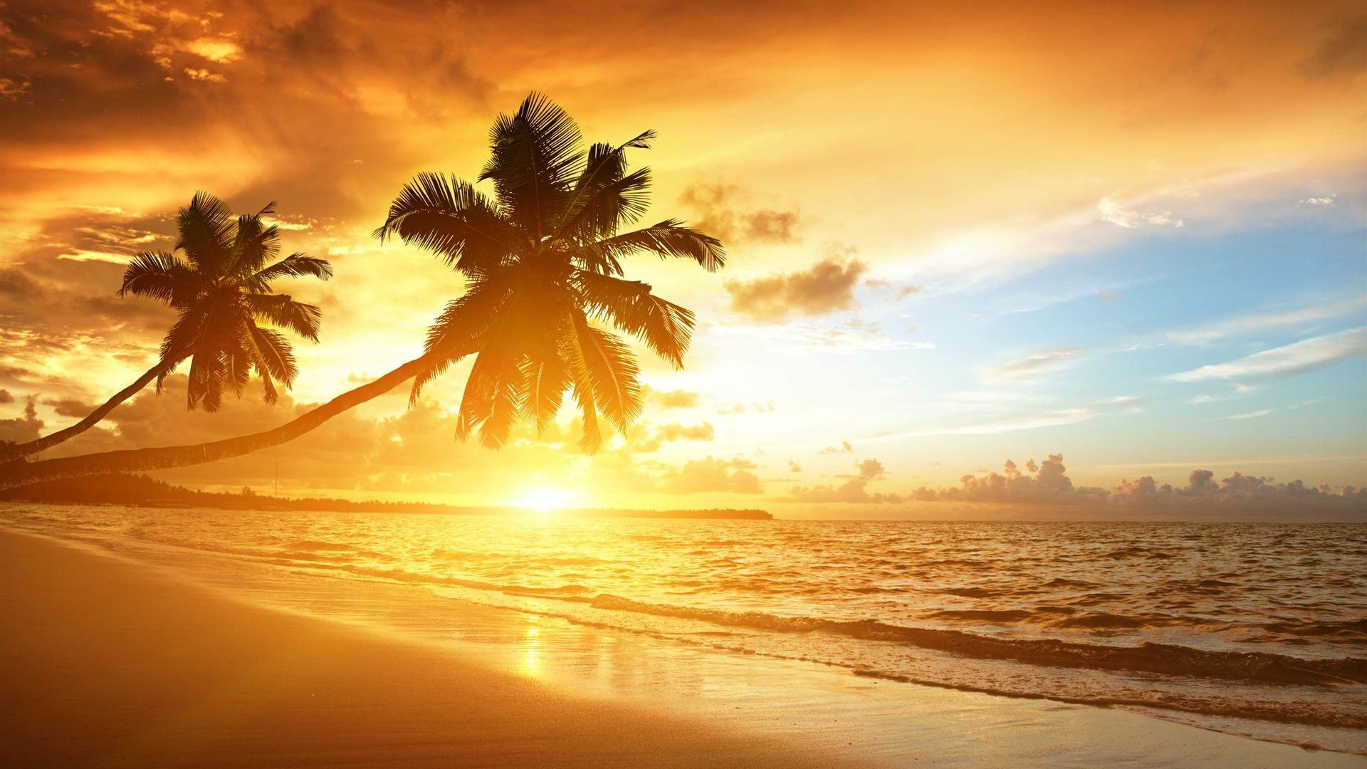 HD Beach Sunrise Beautiful Scenery Wallpaper Wallpapers – HD Desktop  Wallpaper
