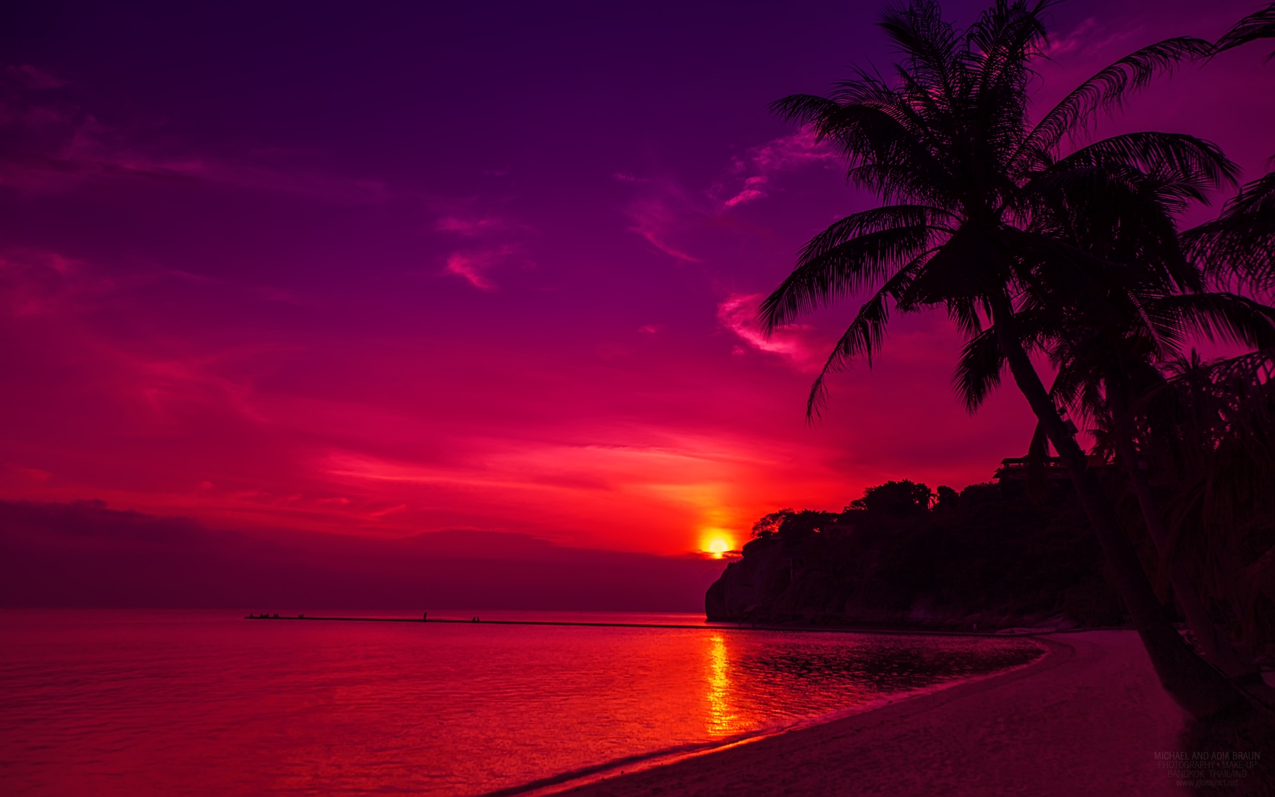 Sunset Beach Backgrounds