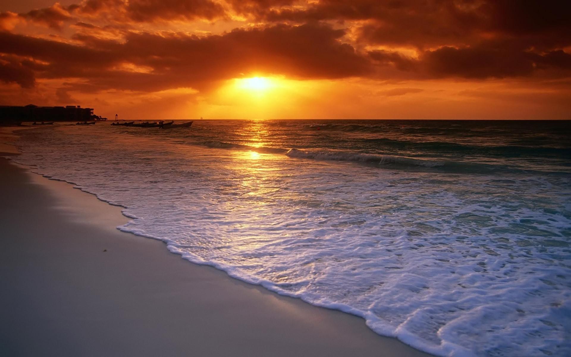 … Good evening ocean side beach background