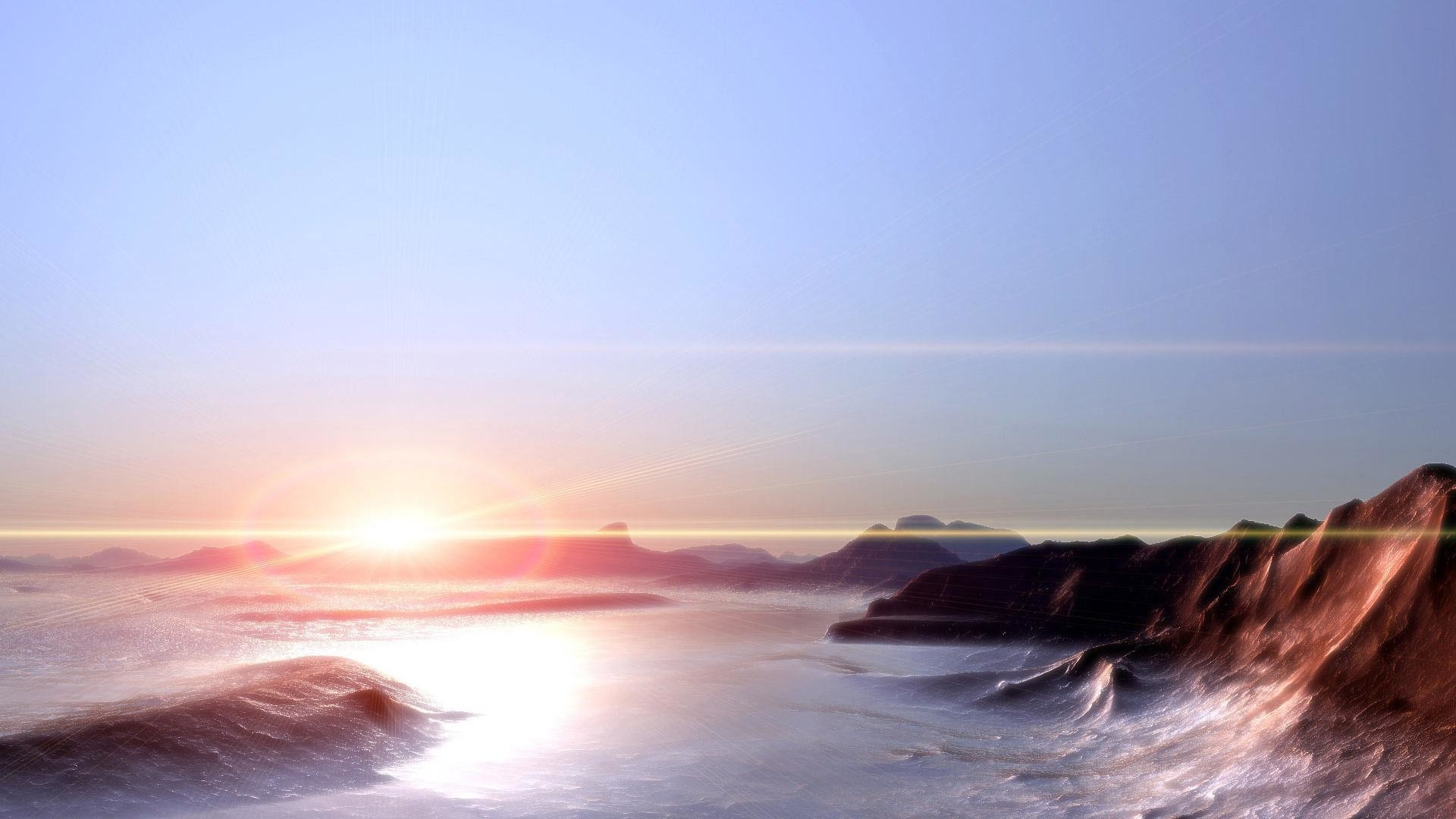 1920x10801440x9001280x800 · beautiful sunset and hills sea scenery  backgrounds