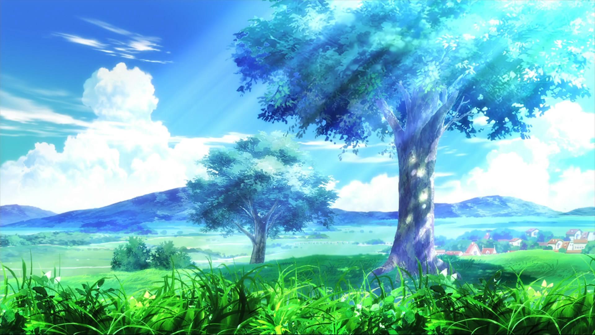 Anime Scenery Desktop Background | Wallmeta.com