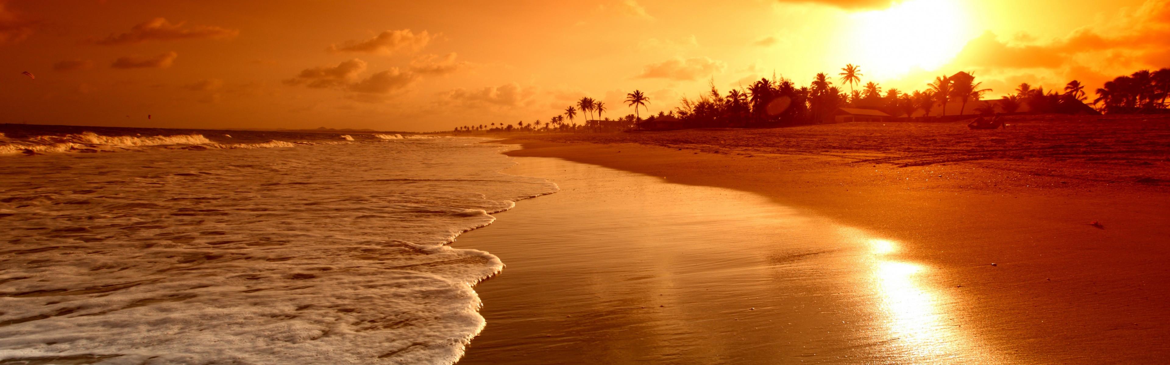 Beach Sunrise iPhone Panoramic Wallpaper Download   iPad Wallpapers .