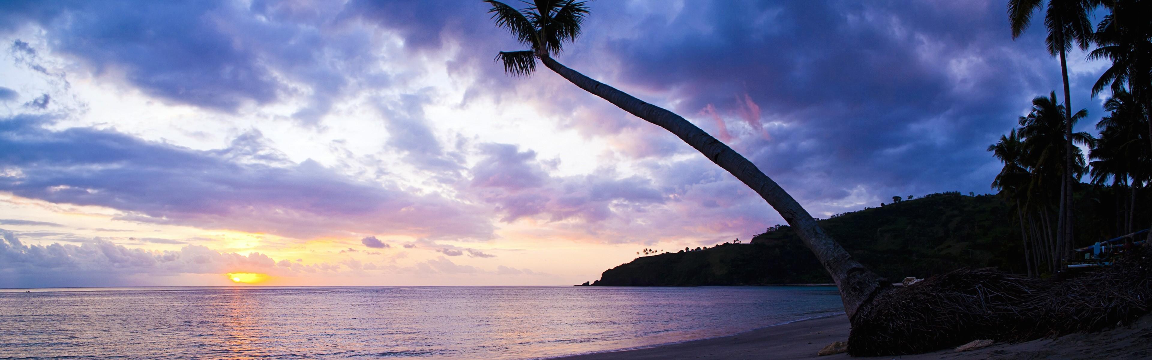Beautiful beach sunset, Windows 8 panoramic widescreen wallpapers #8 –  3840×1200.