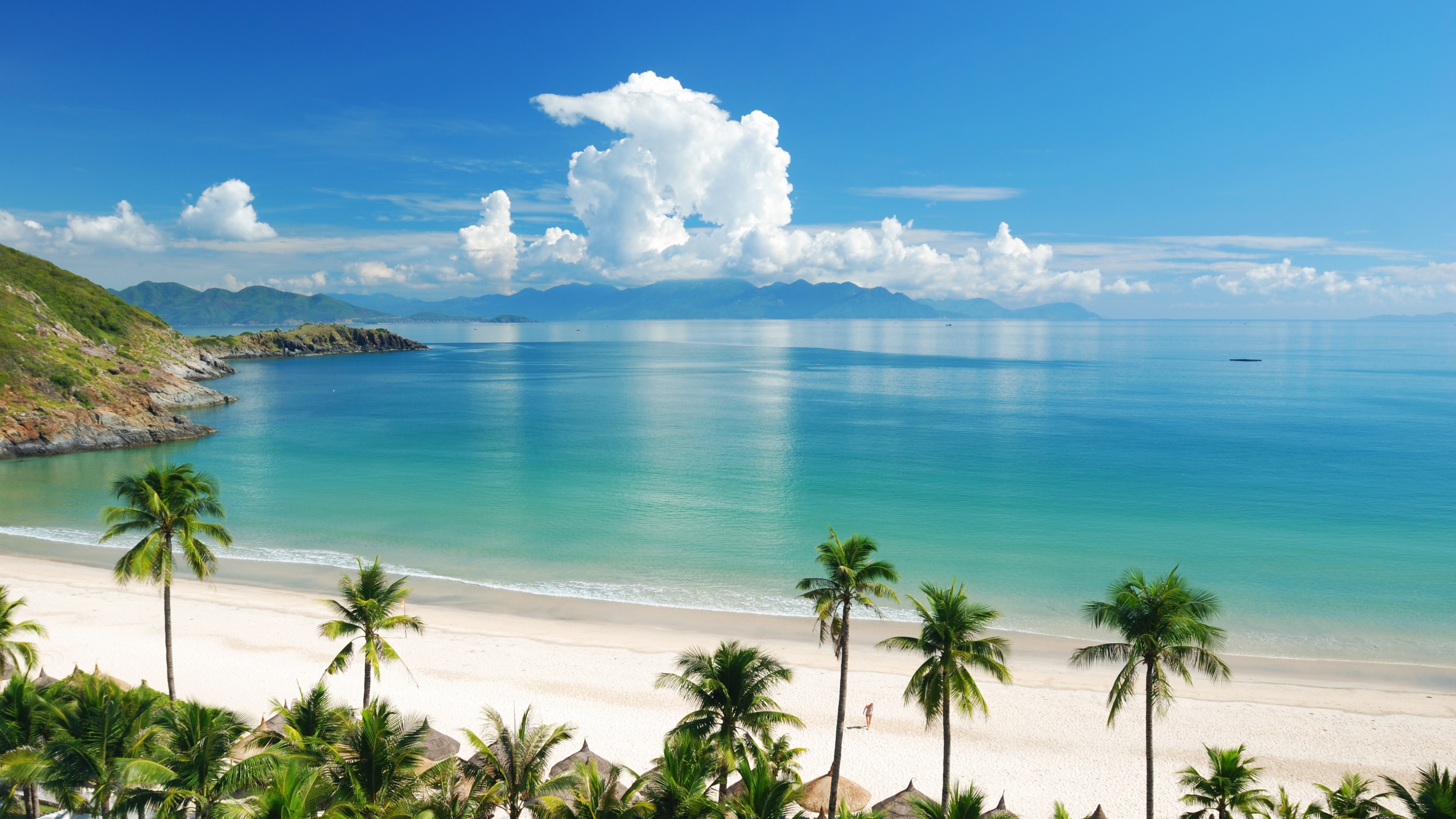 Awesome Panoramic Beach View Wallpaper Wallpaper