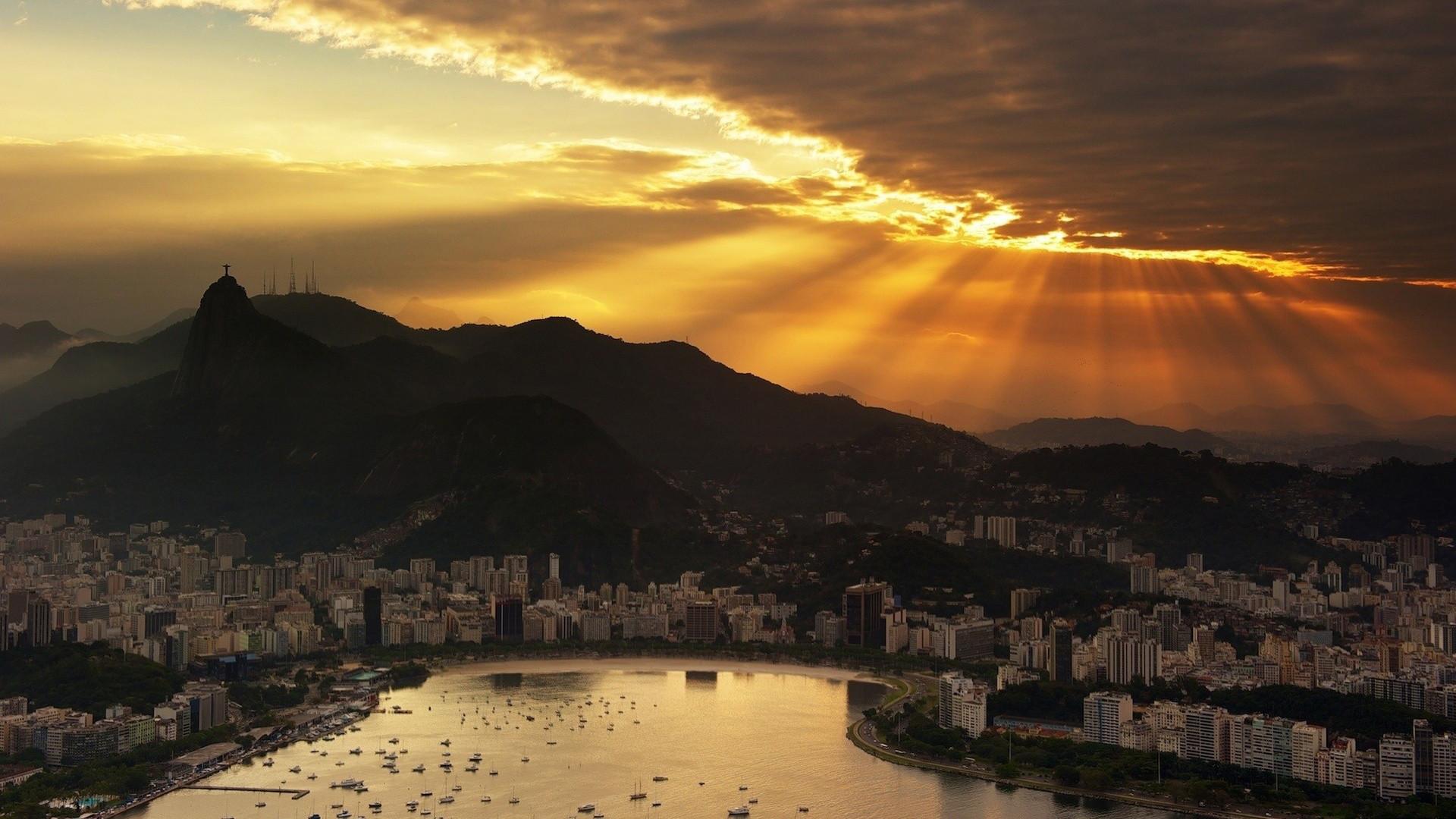 Beautiful Rio De Janeiro HD Desktop Panorama Widescreen Wallpaper with  1920×1080 High Resolution for