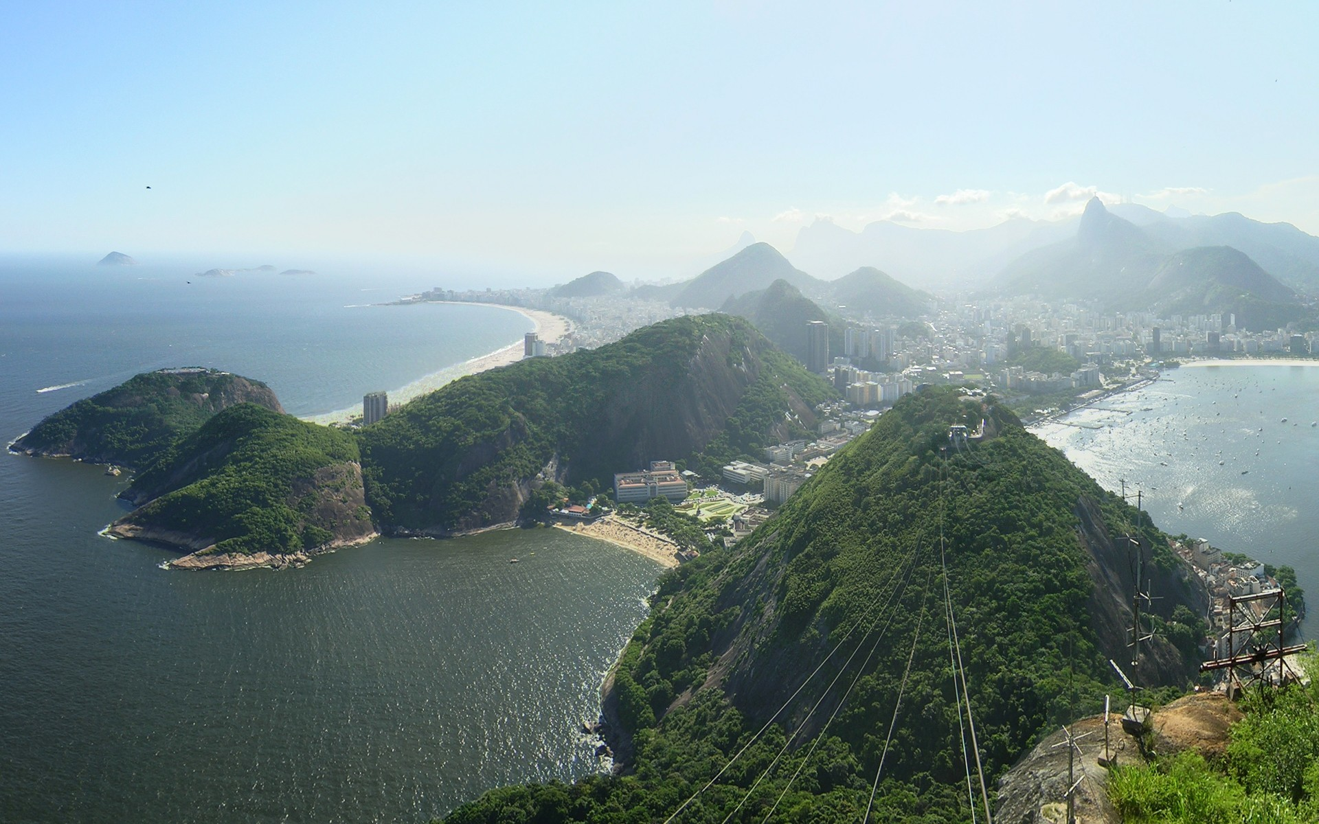 Beach cityscapes seas hills brazil rio de janeiro panorama bay wallpaper      22577   WallpaperUP
