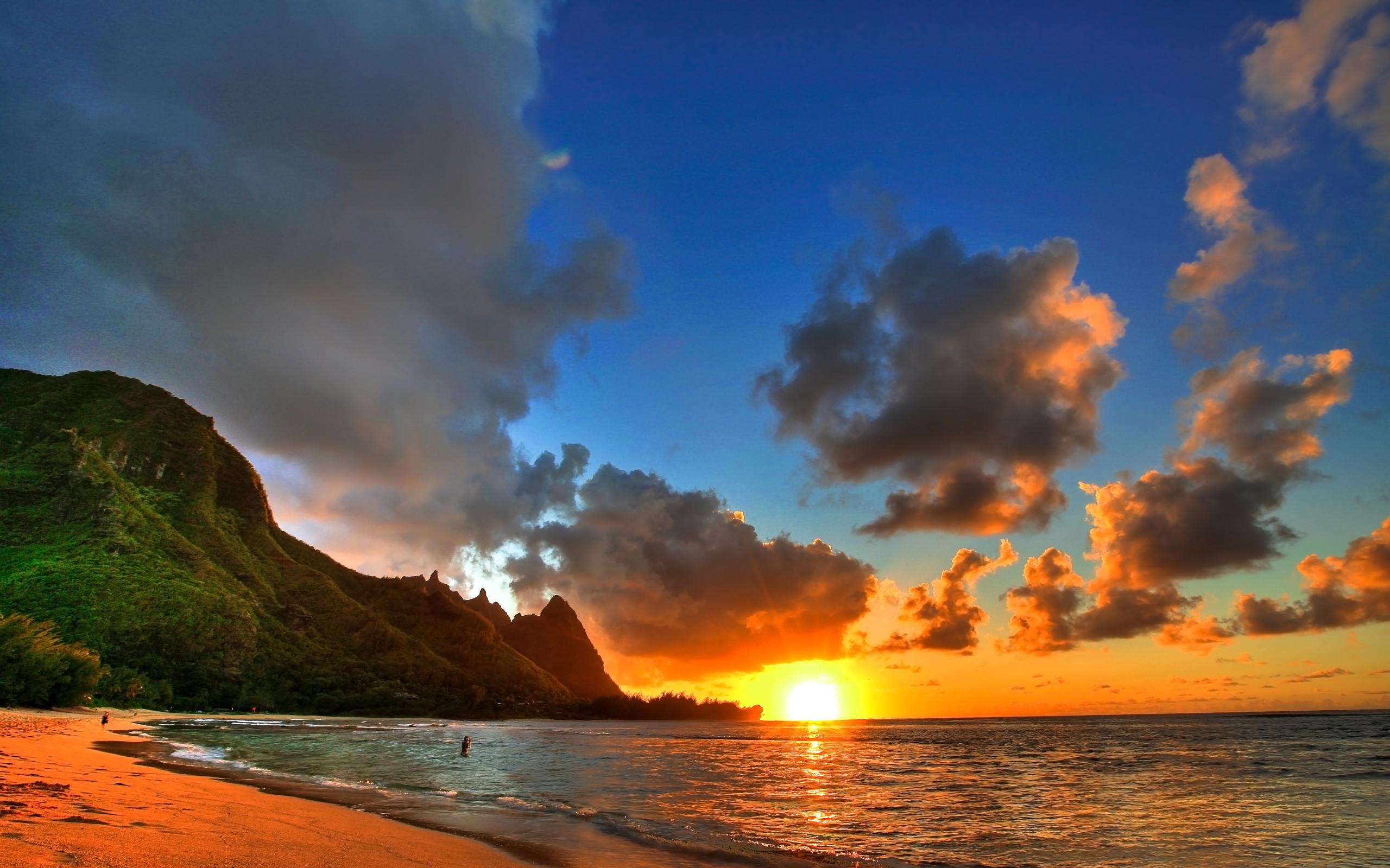 amazing hawaii beach sunset wallpaper image