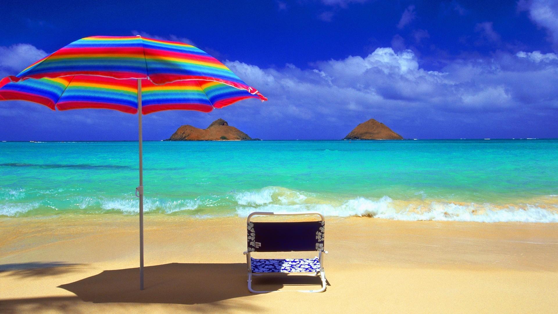 Wallpaper and poster of sun beach umbrella hd wallpaper in Beach . From  Background Wallpapers for
