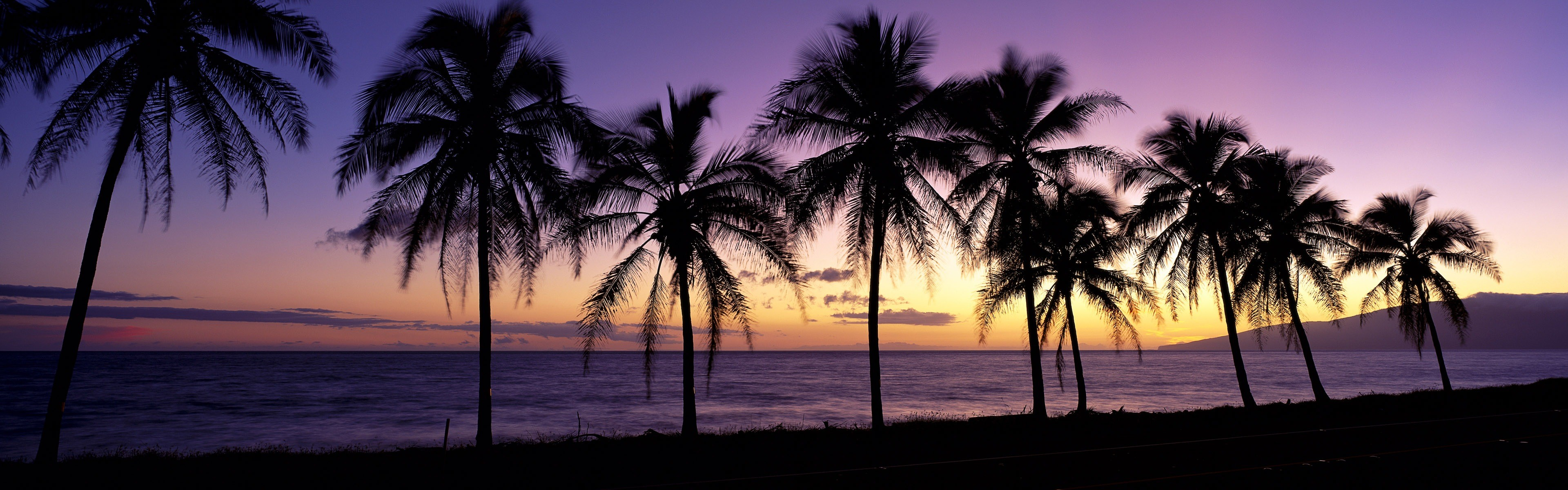 Beautiful beach sunset, Windows 8 panoramic widescreen wallpapers #1 .