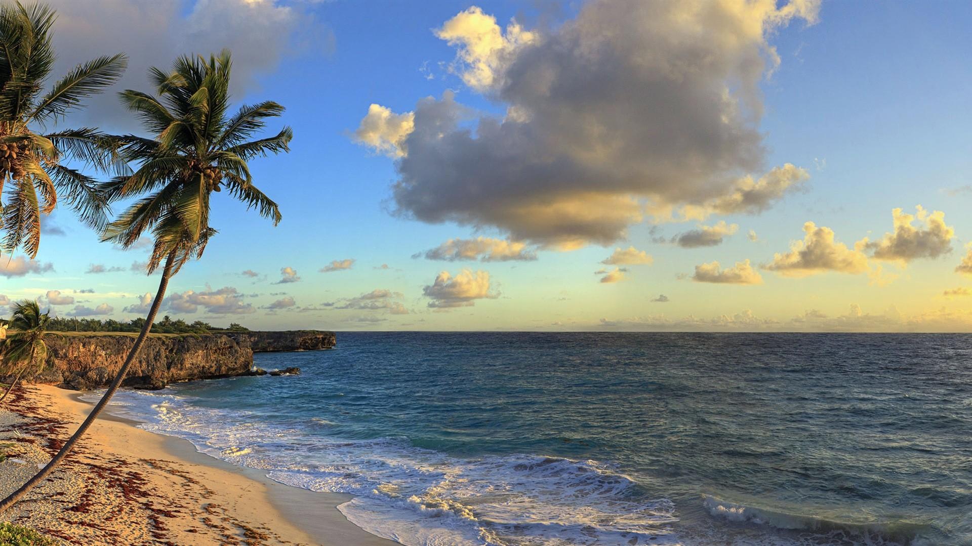 Beautiful beach sunset, Windows 8 panoramic widescreen wallpapers #6 –  1920×1080.