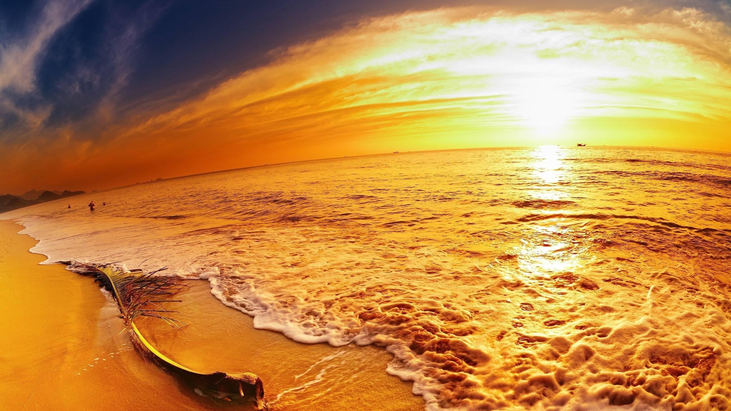 Panoramic Beach Wallpaper Full HD
